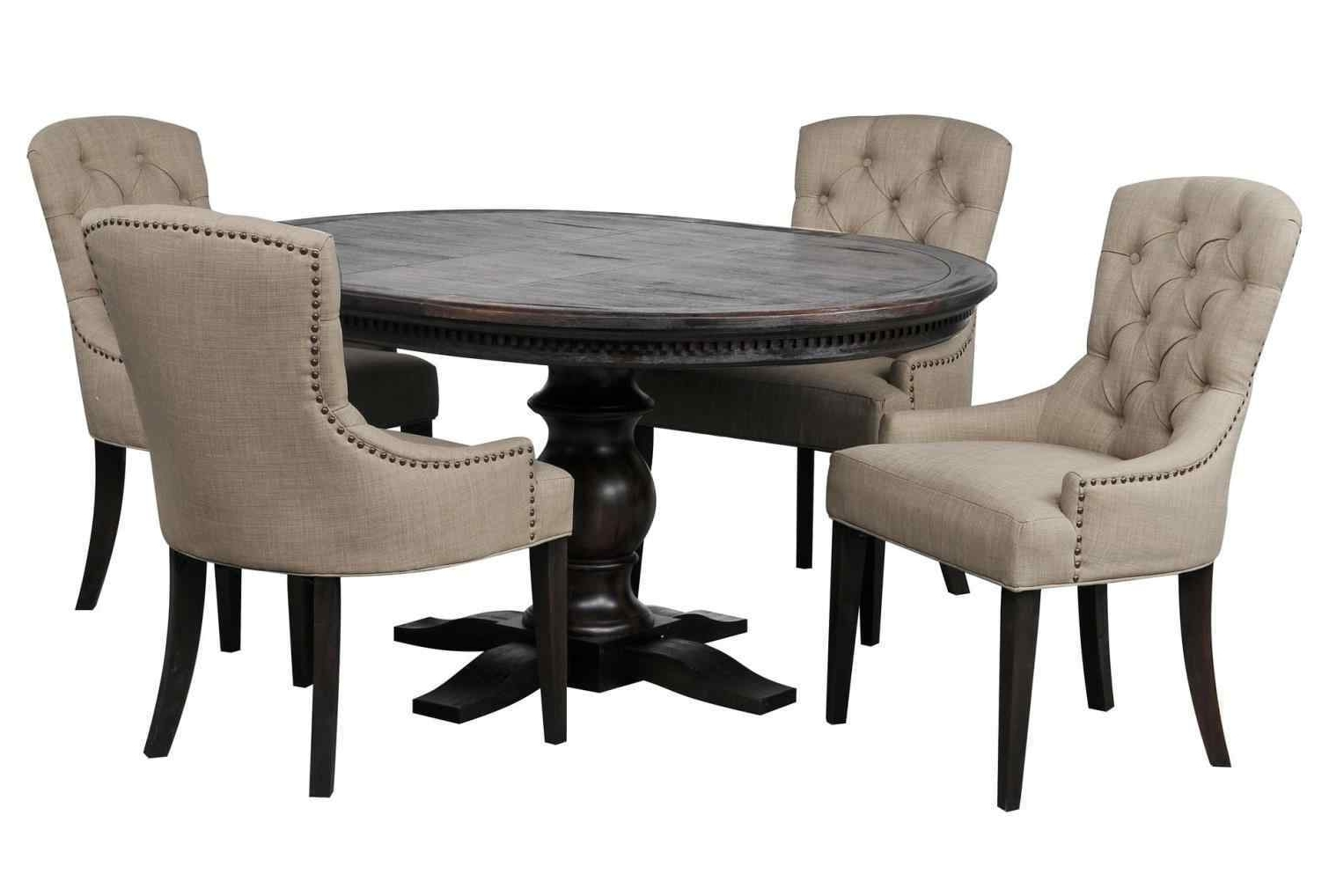 Living Spaces Dining Room Tables – Living Room Ideas Within Popular Caira Black 5 Piece Round Dining Sets With Diamond Back Side Chairs (View 12 of 25)