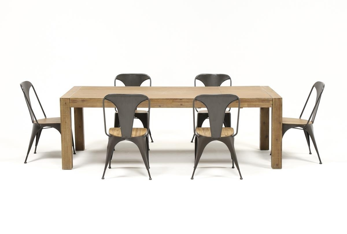 Living Spaces In Amos 7 Piece Extension Dining Sets (View 15 of 25)