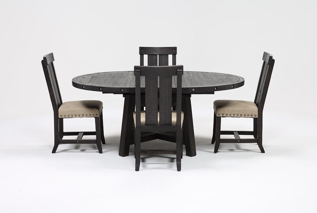 Living Spaces In Most Recently Released Jaxon Round Extension Dining Tables (View 11 of 25)