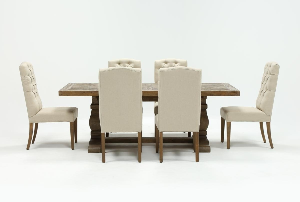 Living Spaces Inside Caden 6 Piece Dining Sets With Upholstered Side Chair (View 4 of 25)