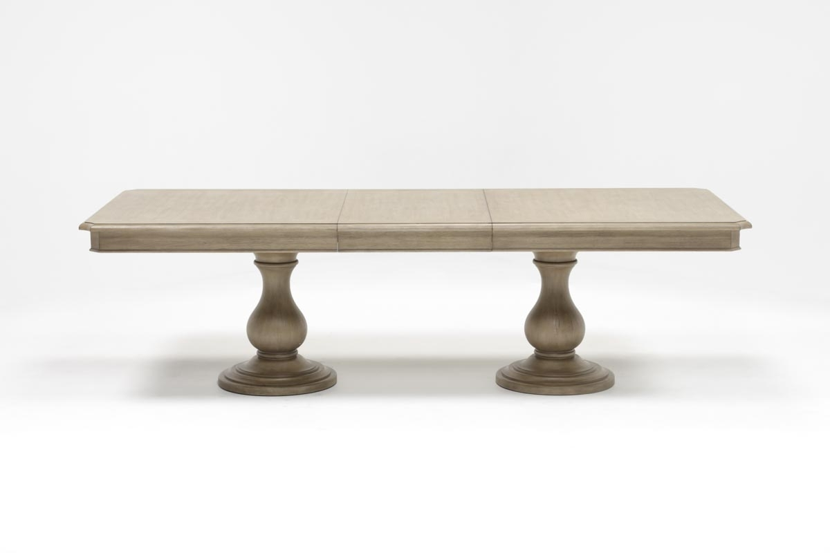Living Spaces Regarding Caira Extension Pedestal Dining Tables (View 1 of 25)