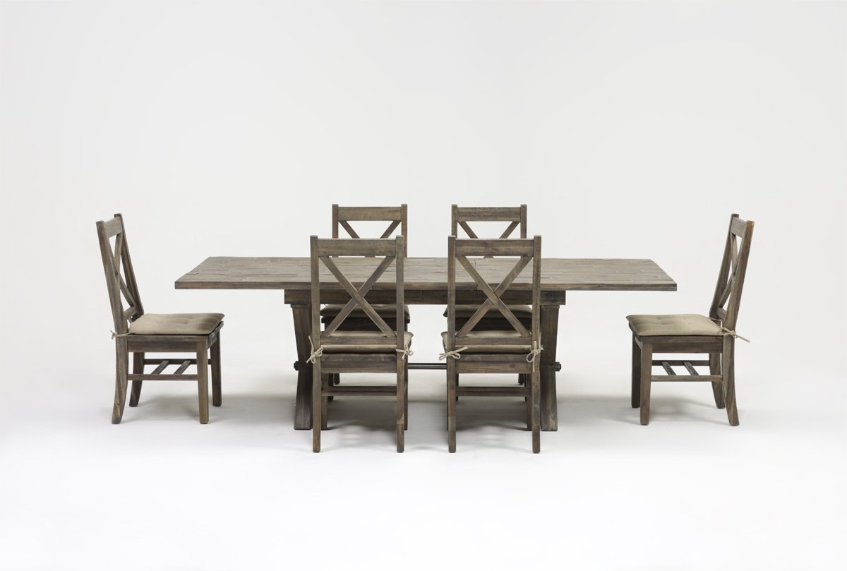 Living Spaces Regarding Mallard 7 Piece Extension Dining Sets (View 9 of 25)