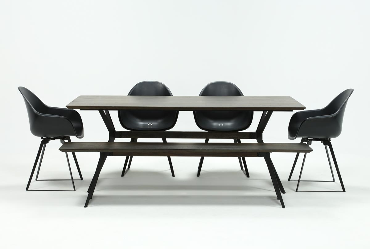 Living Spaces Regarding Weaver Dark 7 Piece Dining Sets With Alexa White Side Chairs (View 7 of 25)