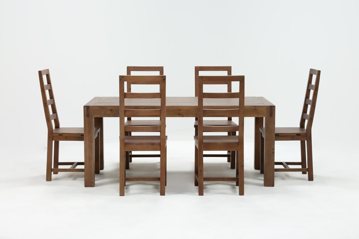 Living Spaces Throughout Crawford 6 Piece Rectangle Dining Sets (View 6 of 25)