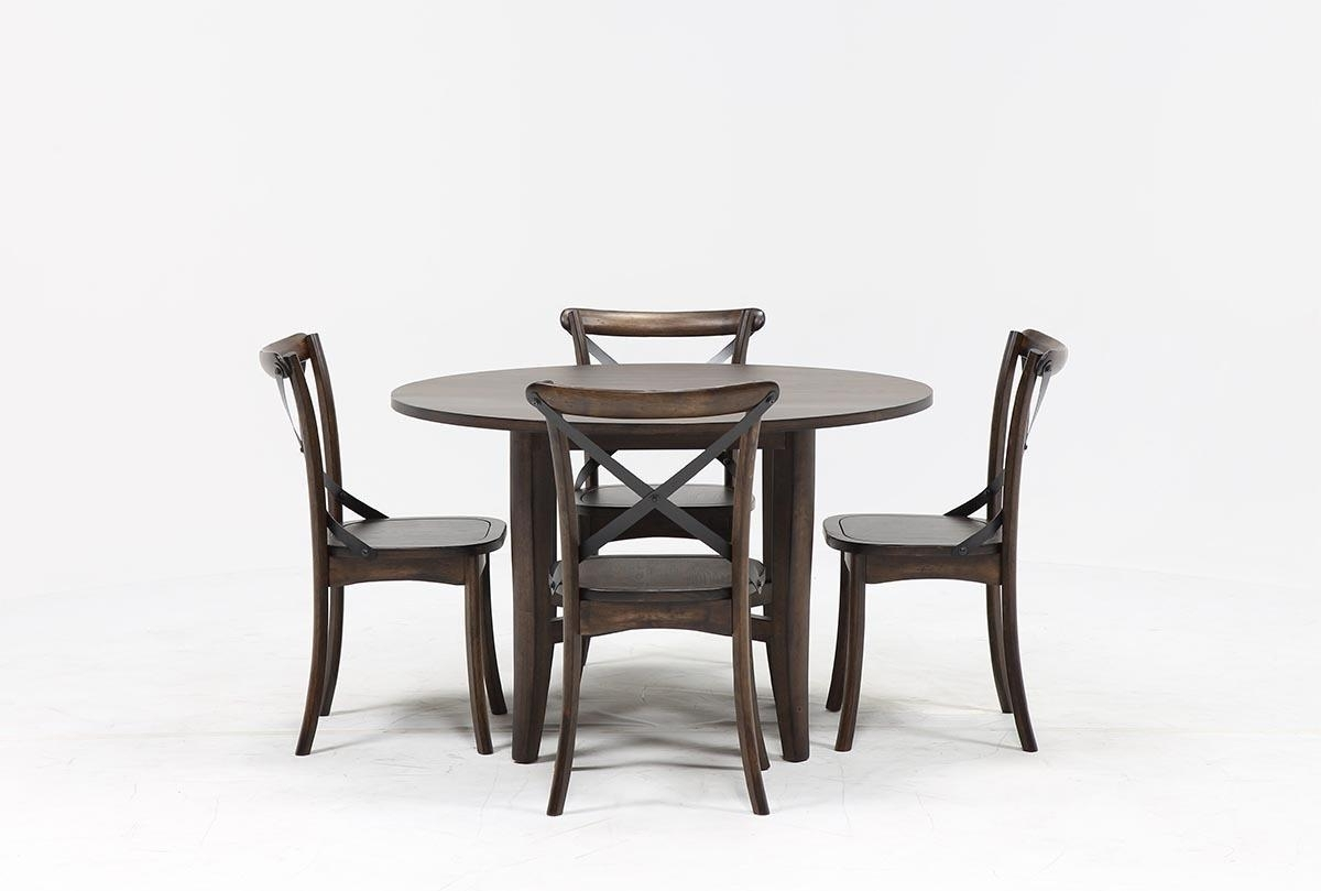 Living Spaces With Regard To Fashionable Combs 5 Piece Dining Sets With Mindy Slipcovered Chairs (View 6 of 25)