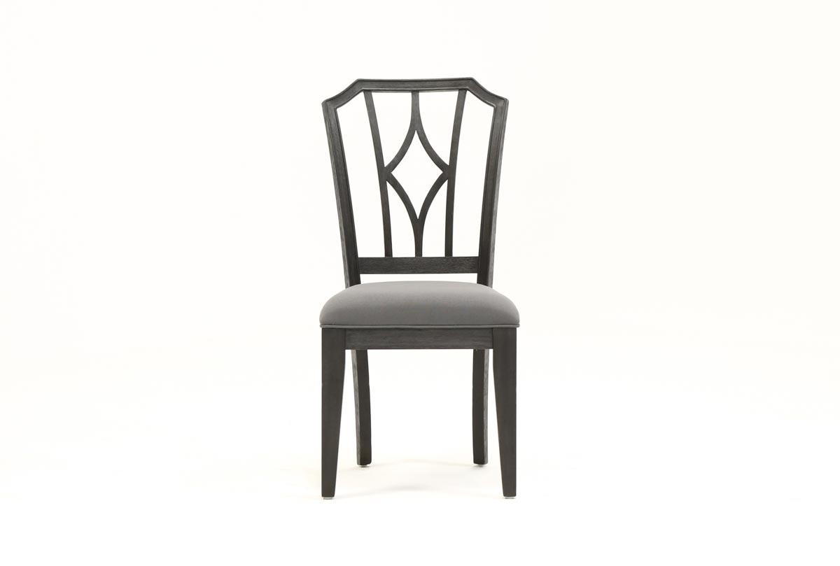 Living Spaces Within Latest Caira Black 5 Piece Round Dining Sets With Diamond Back Side Chairs (View 13 of 25)