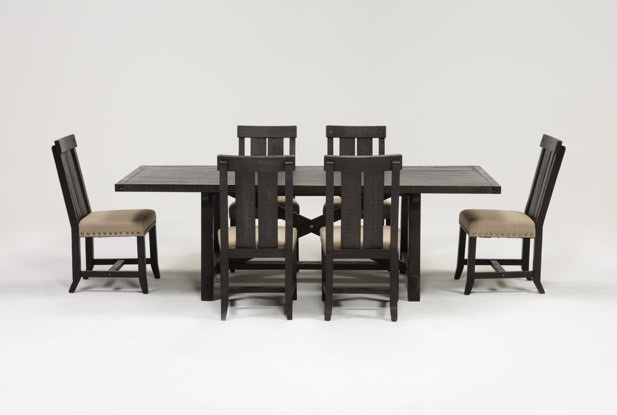 Living Spaces Within Well Known Jaxon 6 Piece Rectangle Dining Sets With Bench & Uph Chairs (View 15 of 25)
