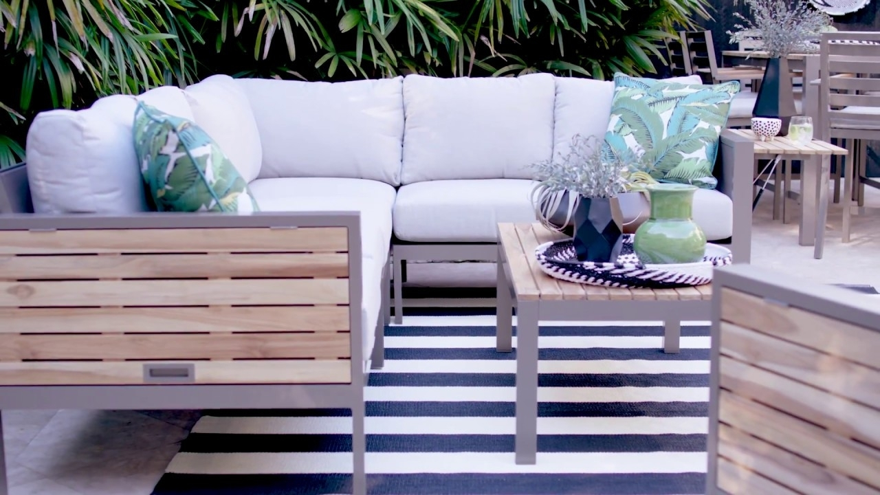 Living Spaces – Youtube With Most Recent Outdoor Brasilia Teak High Dining Tables (View 14 of 25)