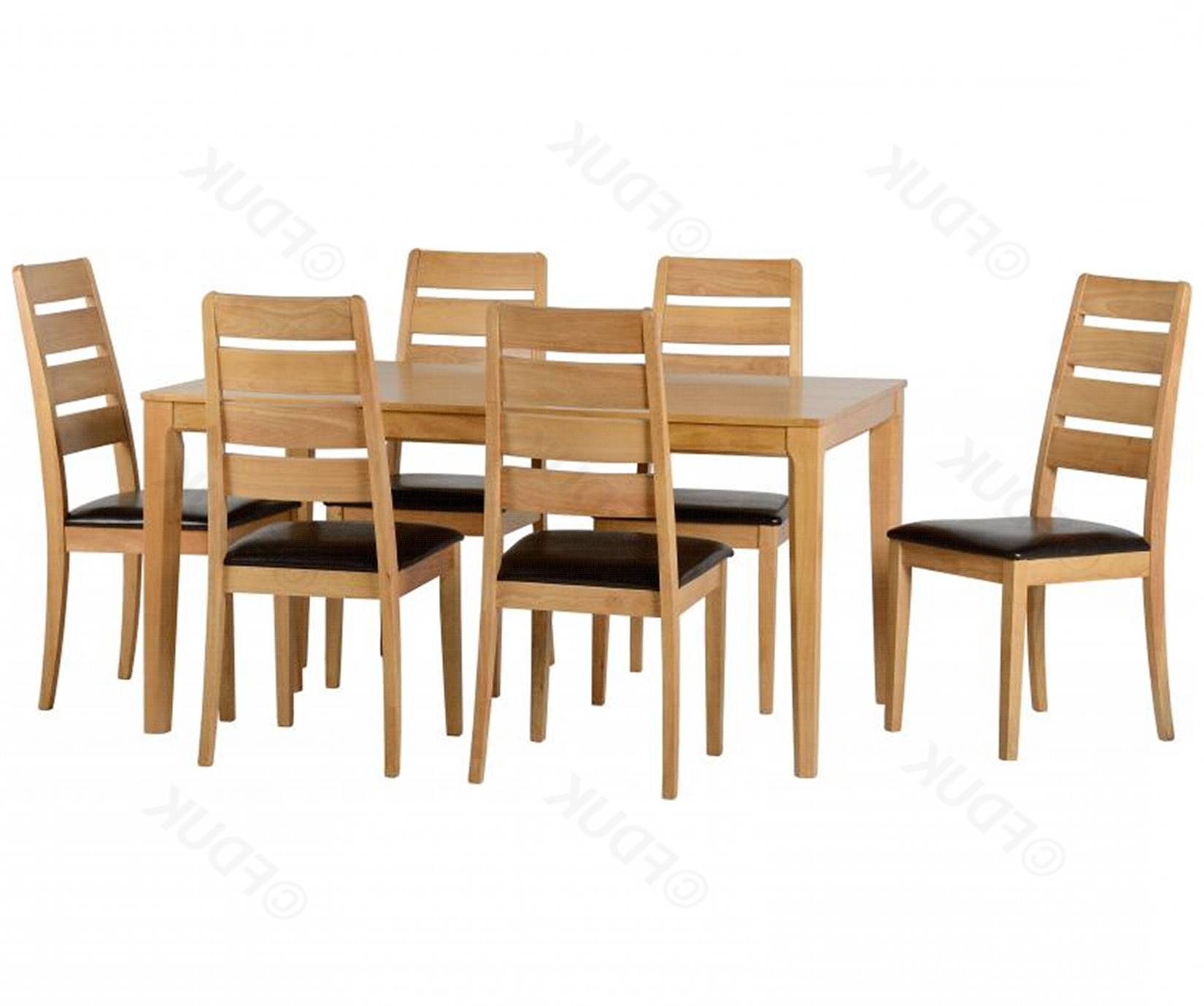 Logan 6 Piece Dining Sets Intended For Most Recent Seconique (View 13 of 25)