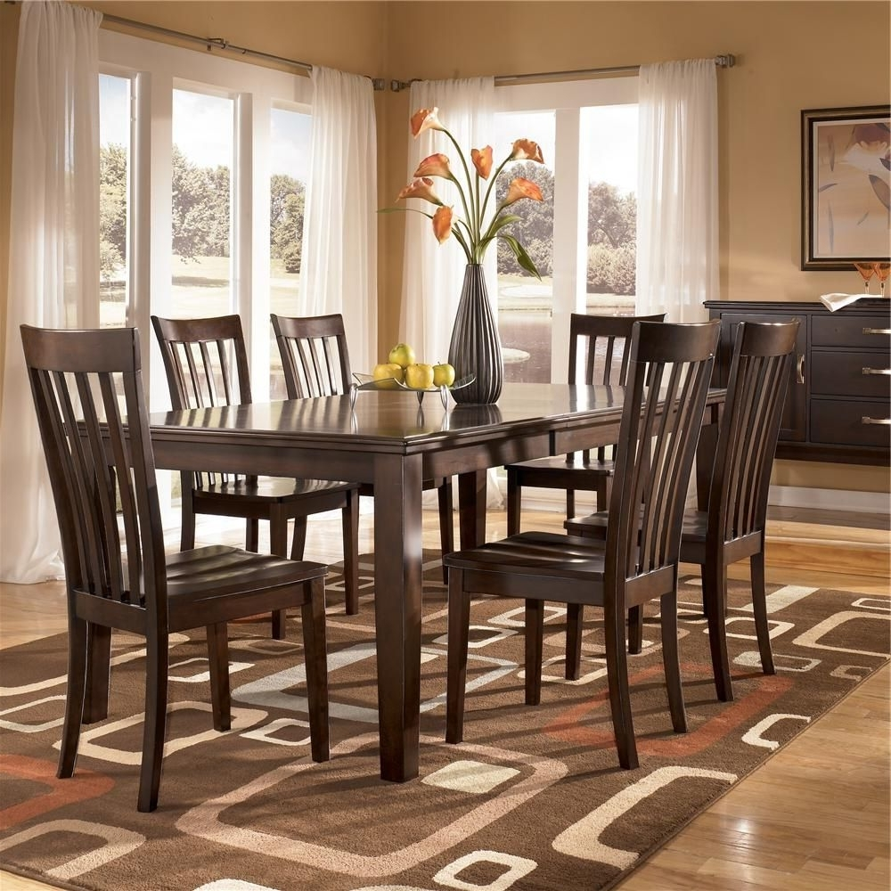 Logan 7 Piece Dining Sets Regarding Best And Newest Logan 7 Piece Rectangular Table Dining Setashley Furniture (View 10 of 25)
