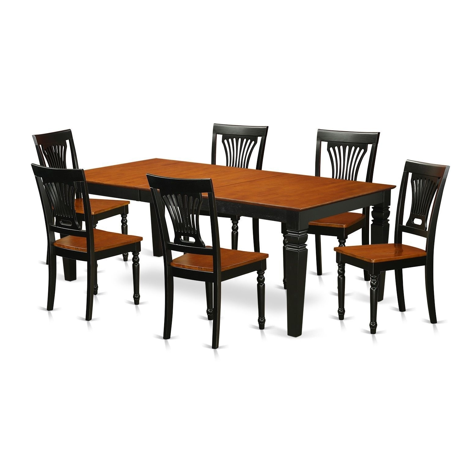 Logan Black And Cherry Finish Wood Dining Set (5 Piece Sets – 4 Regarding Well Known Logan 6 Piece Dining Sets (View 8 of 25)