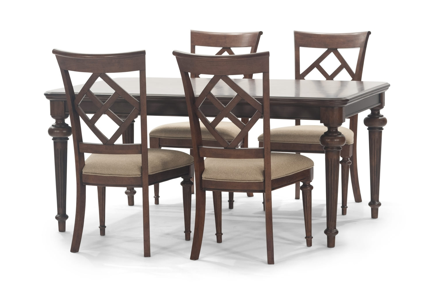 Logan Dining Tables Within Most Recently Released Logan Dining Table With 4 Side Chairs (View 7 of 25)