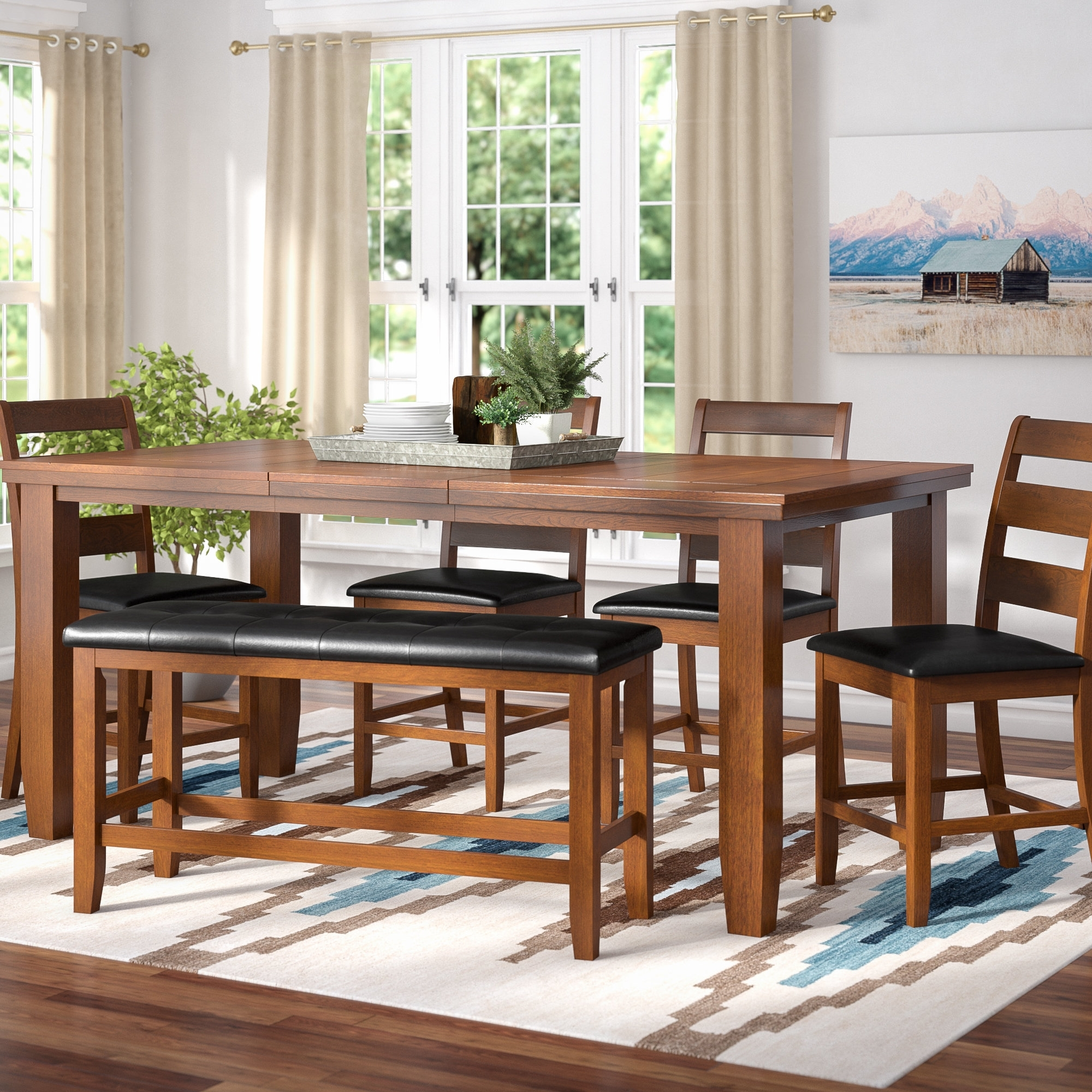 Loon Peak Bridlewood 9 Piece Dining Set & Reviews (View 17 of 25)