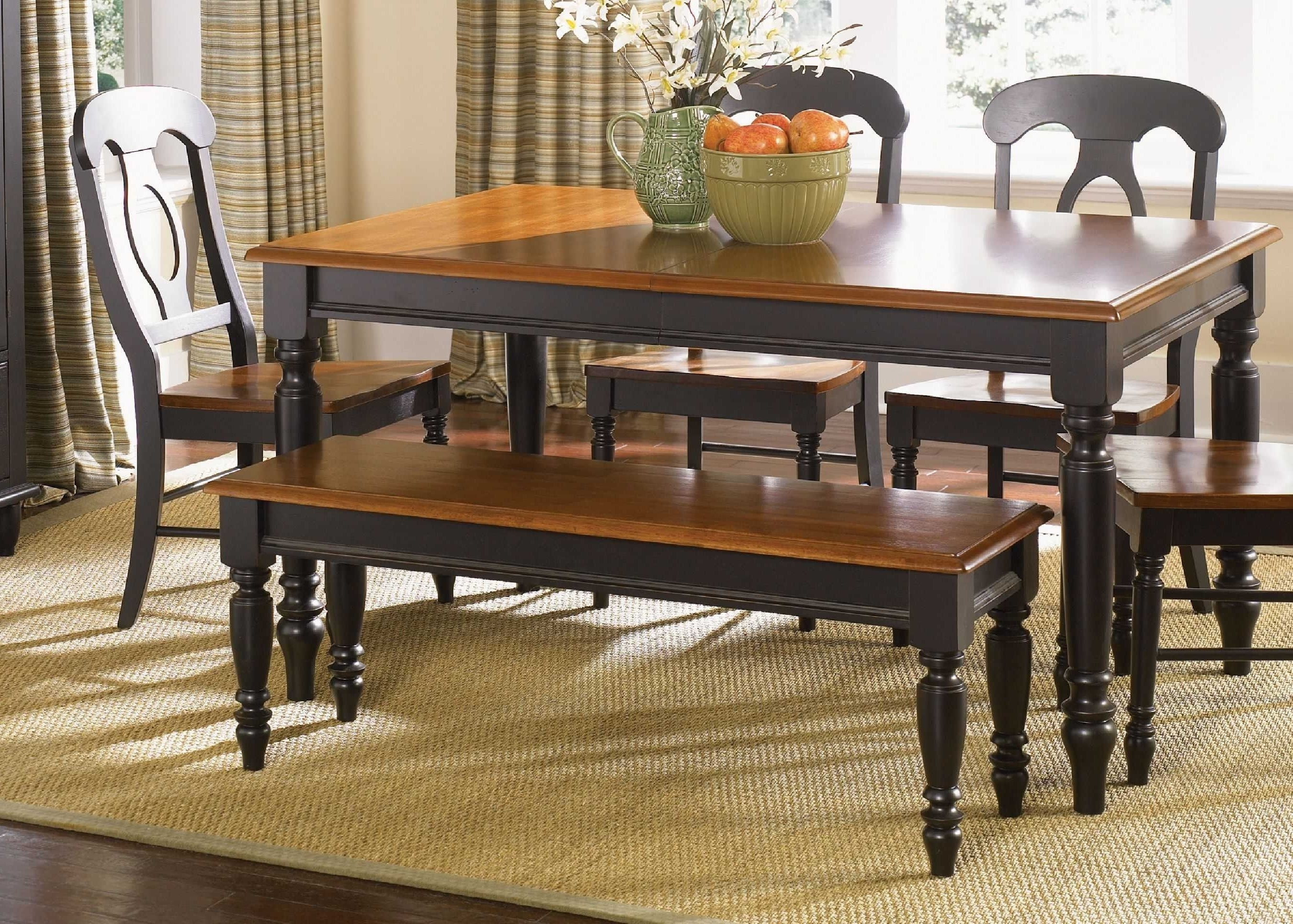 Low Country Black 9 Piece Set With Napoleon Back Side Chairs (View 19 of 25)