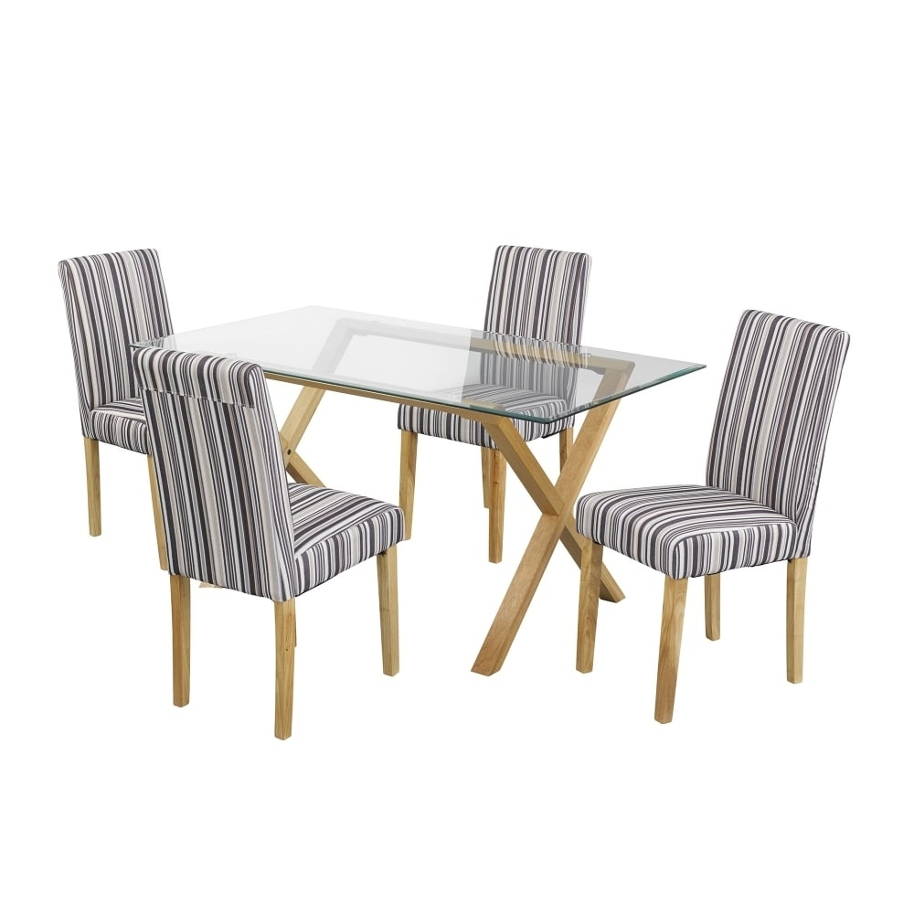 Lpd Furniture Cadiz Clear Glass Dining Table (View 16 of 25)