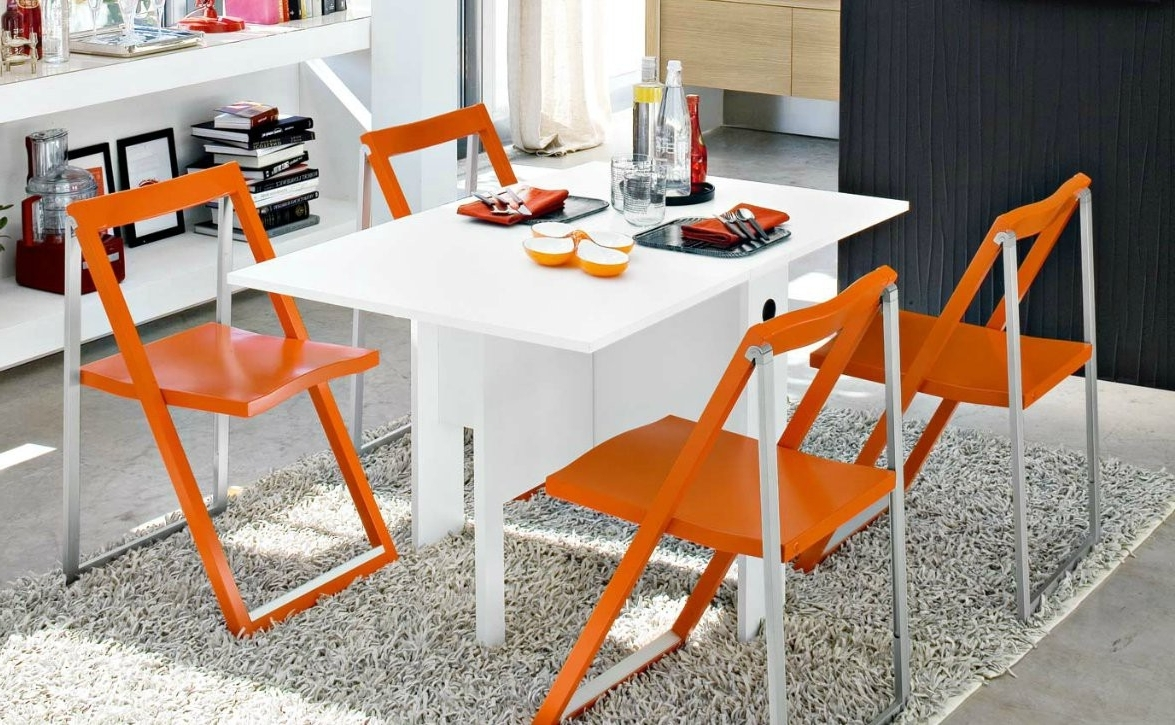 Lucca Folding Table Regarding Most Up To Date White Melamine Dining Tables (View 8 of 25)