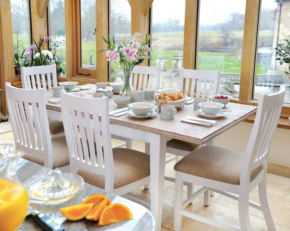 Lulworth Extending Dining Table, Extended Dining Table Sets Intended For Widely Used Extending Dining Table And Chairs (View 15 of 25)