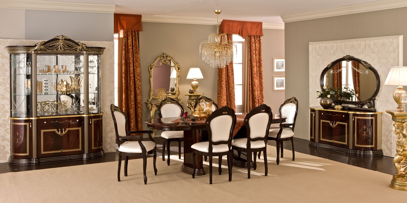Luxor Day Mahogany Dining Room – Other – Furniture, Mattress – Nyc Regarding Most Recently Released Mahogany Dining Tables Sets (View 10 of 25)
