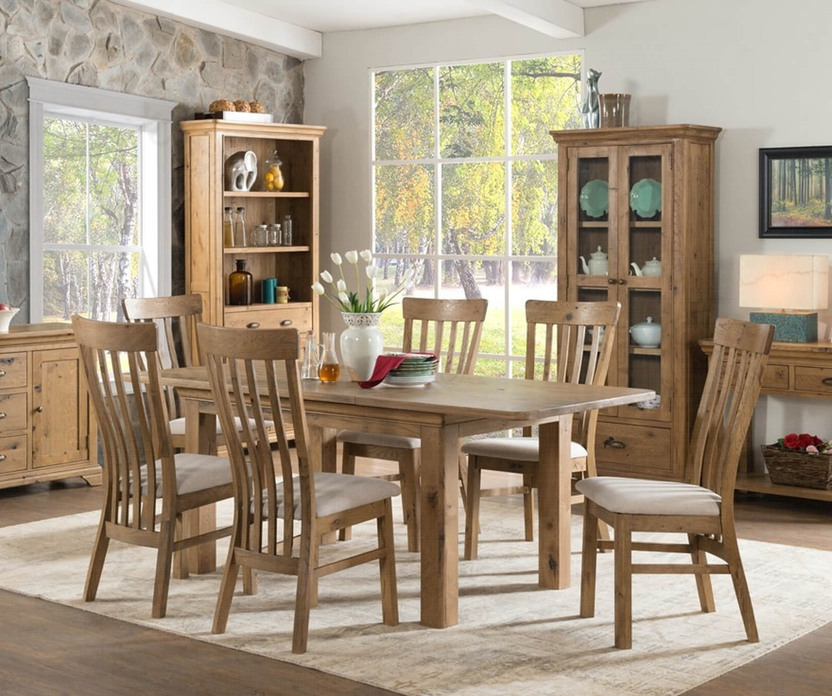 Lyon 140Cm Extension Dining Set (View 8 of 25)