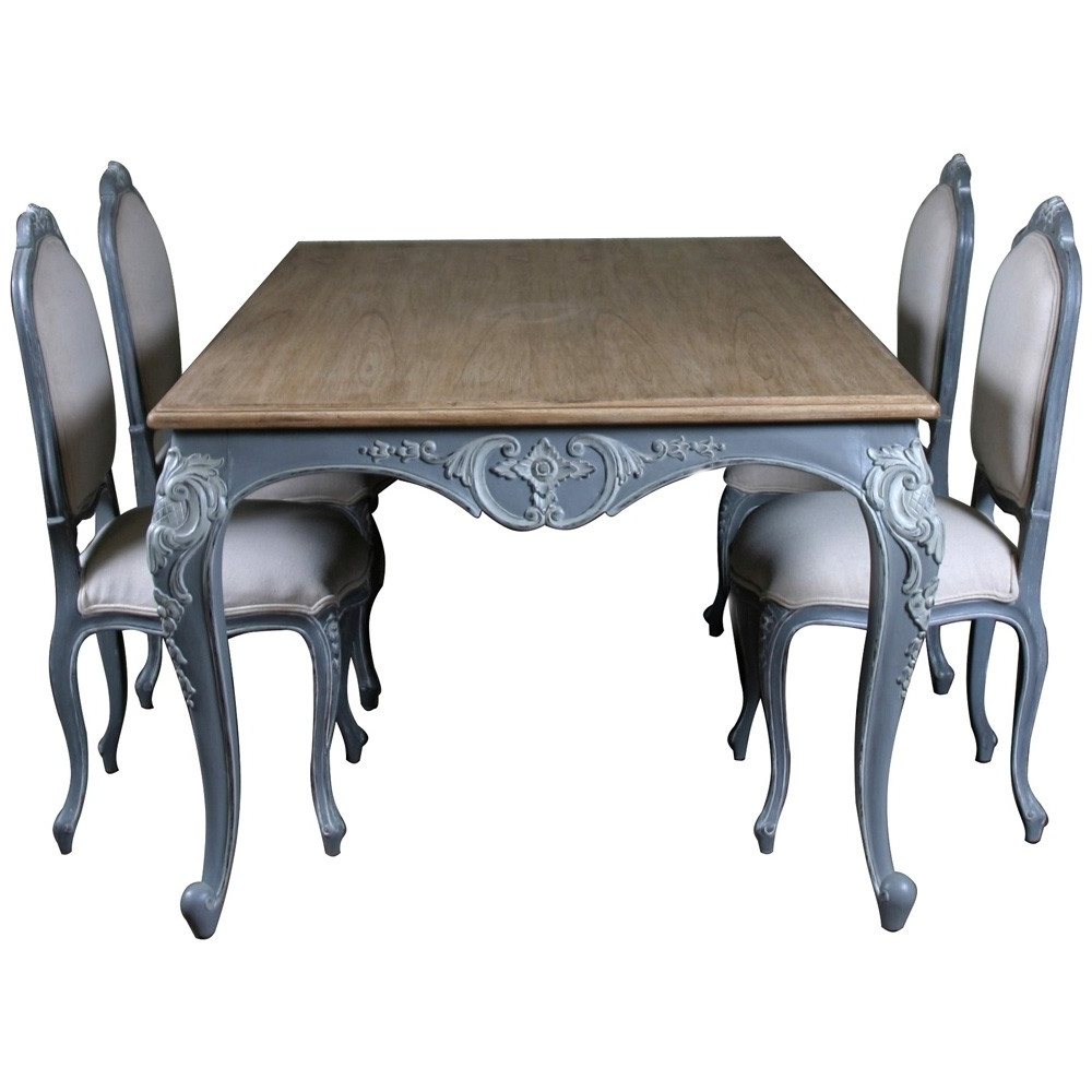 Lyon French Carved Dining Table (View 3 of 25)