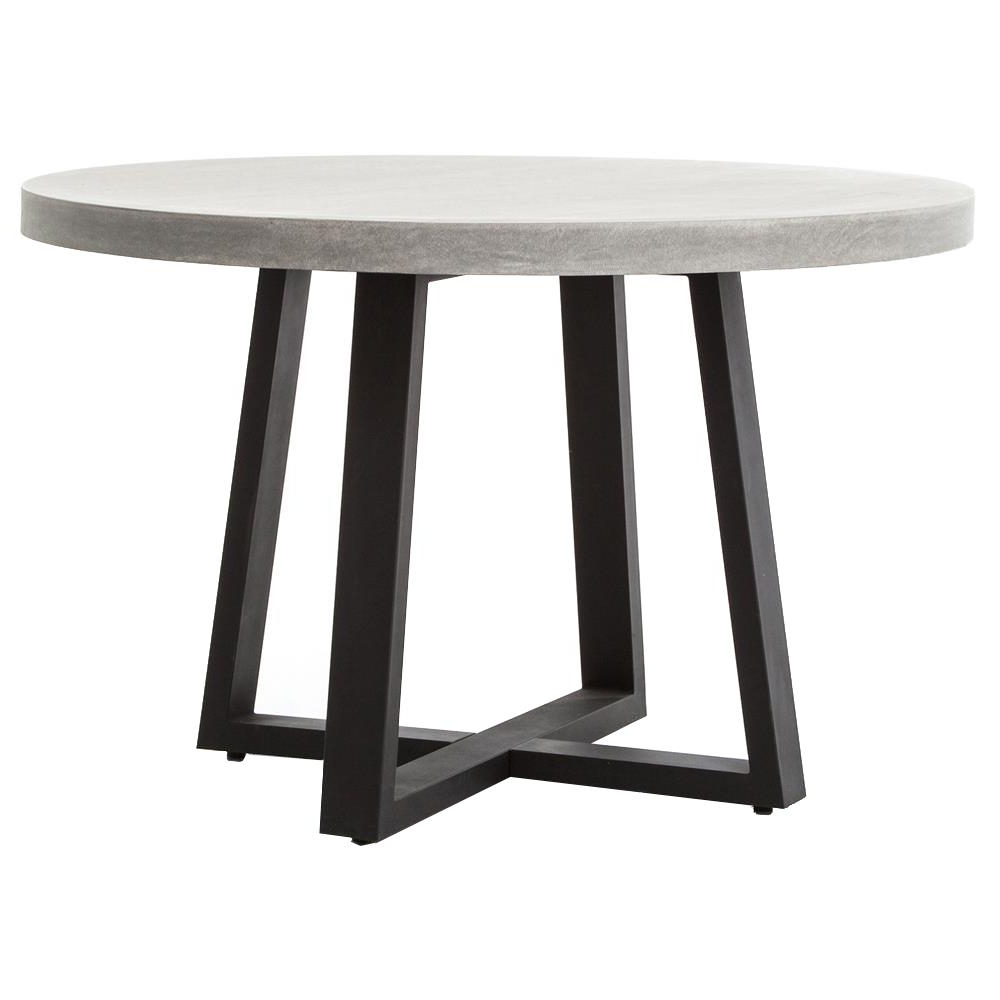 Maceo Modern Classic Round Composite Stone Metal Dining Table – 48 Inch Inside Newest Stone Dining Tables (View 12 of 25)