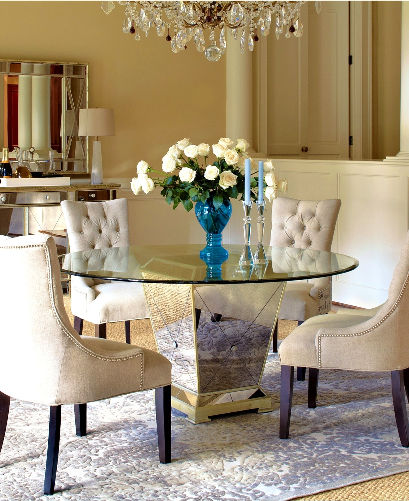 Macy's Round Dining Table Set • Table Setting Design For Well Known Macie Round Dining Tables (View 12 of 25)