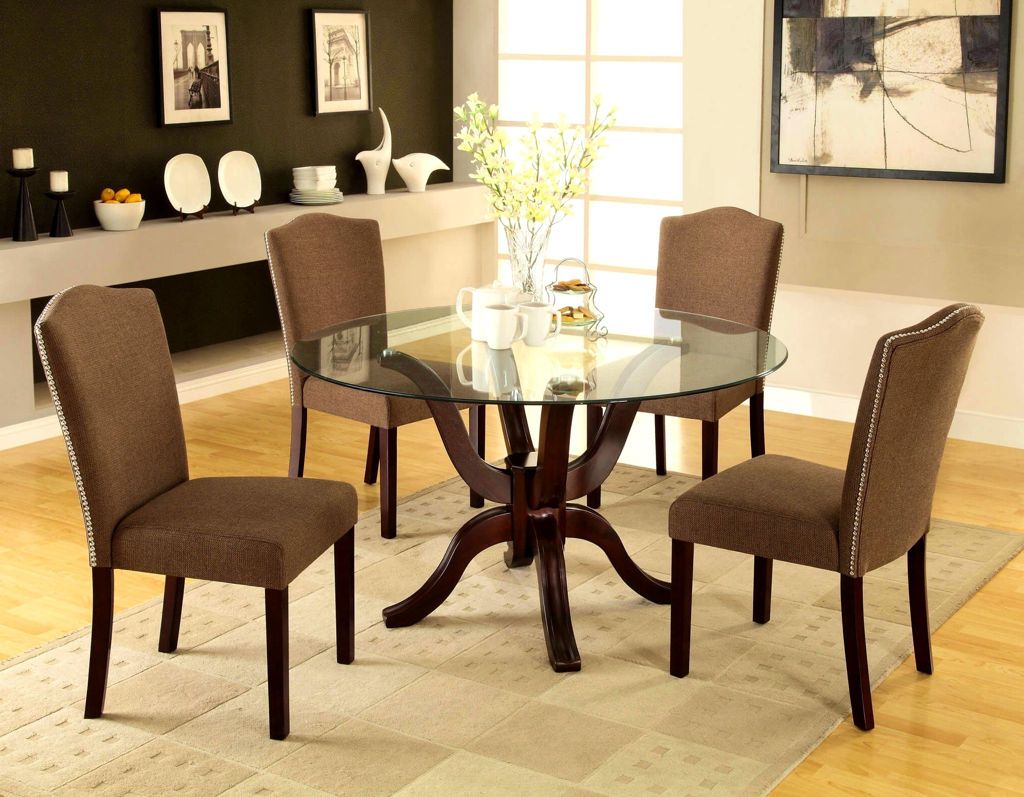 Macy's Round Dining Table Set • Table Setting Design Pertaining To Well Liked Macie Round Dining Tables (View 13 of 25)