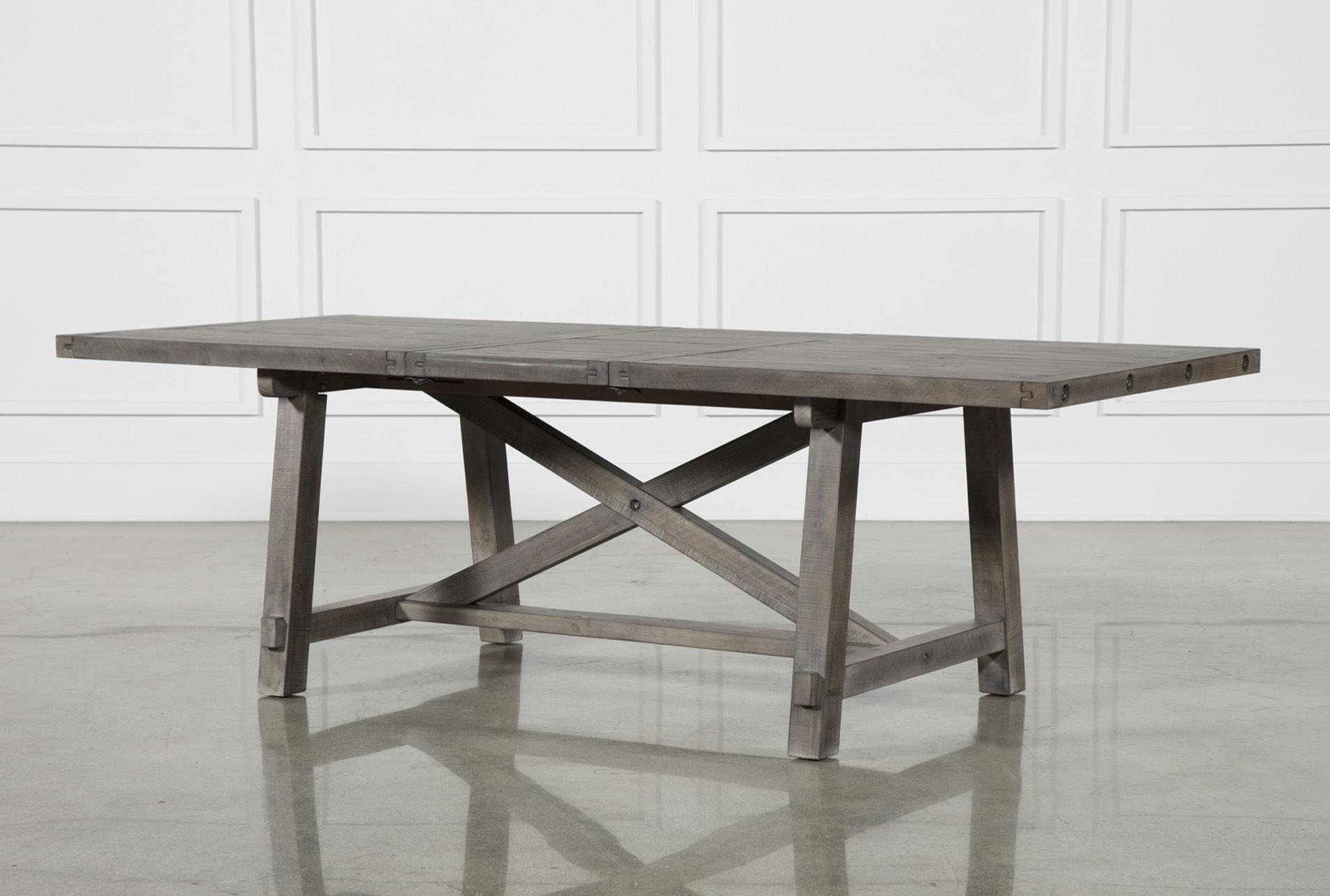 Magnolia Home Array Dining Tables By Joanna Gaines With Regard To Popular Jaxon Grey Rectangle Extension Dining Table (View 2 of 25)