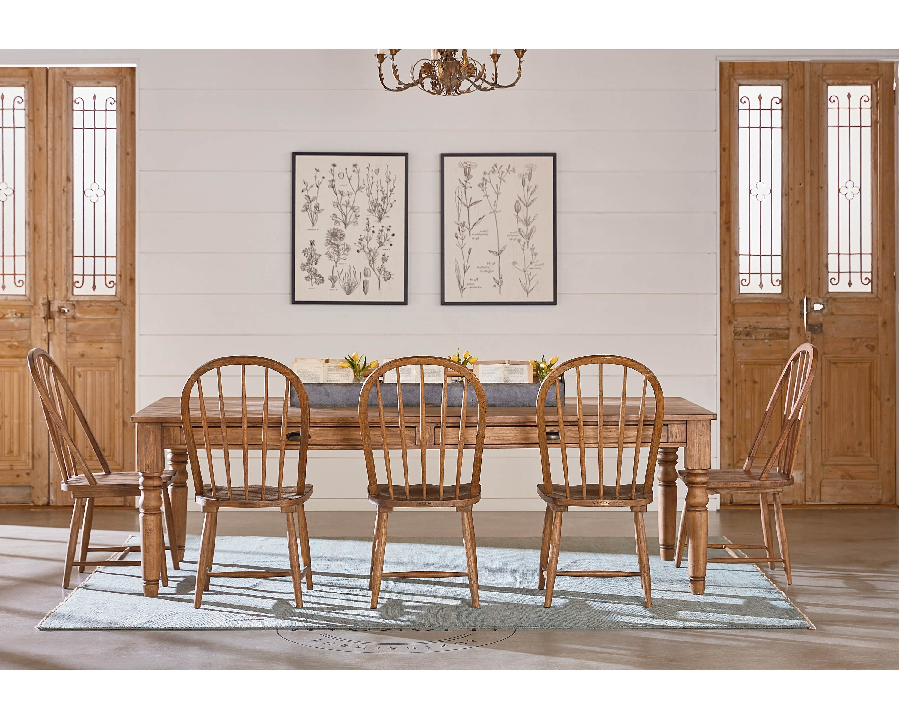 Magnolia Home Bench Keeping 96 Inch Dining Tables For 2018 Taper Turned Dining Table – Magnolia Home (View 6 of 25)