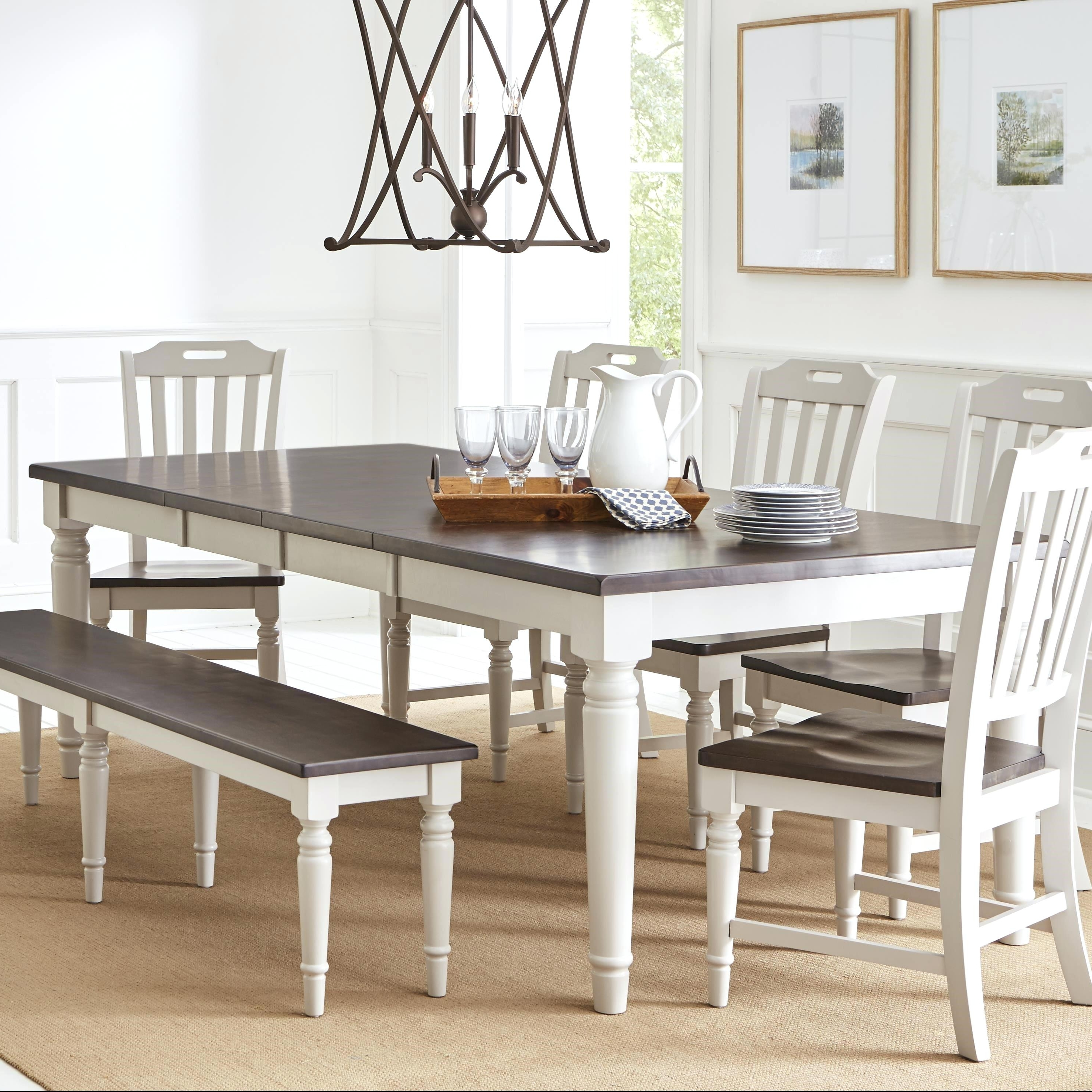 Magnolia Home Bench Keeping 96 Inch Dining Tables Pertaining To Popular 96 Dining Table Rectangle Couture Oxidized Grey Inch Dining Table (View 10 of 25)