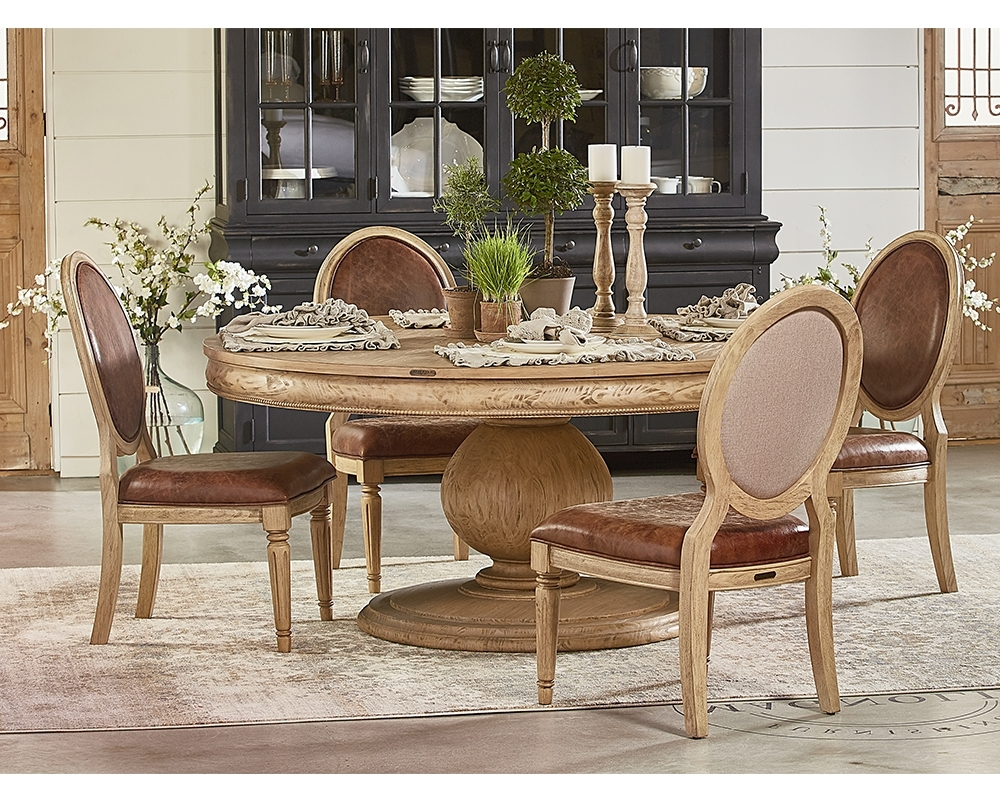 Magnolia Home Breakfast Round Black Dining Tables With Preferred Magnolia Home 3010501/03Y Wheat Belgian Breakfast Table At Sutherlands (View 16 of 25)