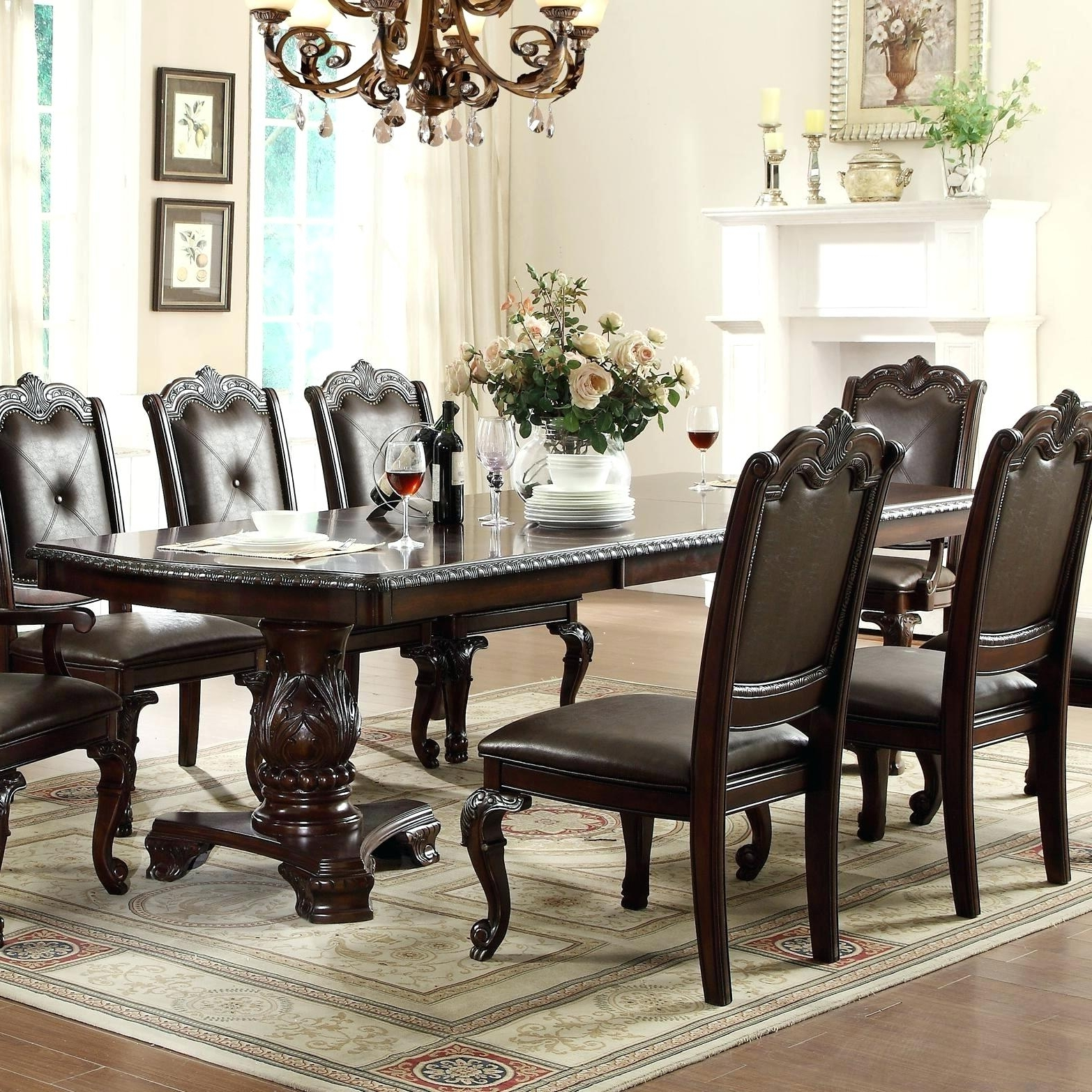 Magnolia Home Double Pedestal Dining Tables Within Trendy Pedestal Dining Table – Anthonytyronehoward (View 14 of 25)