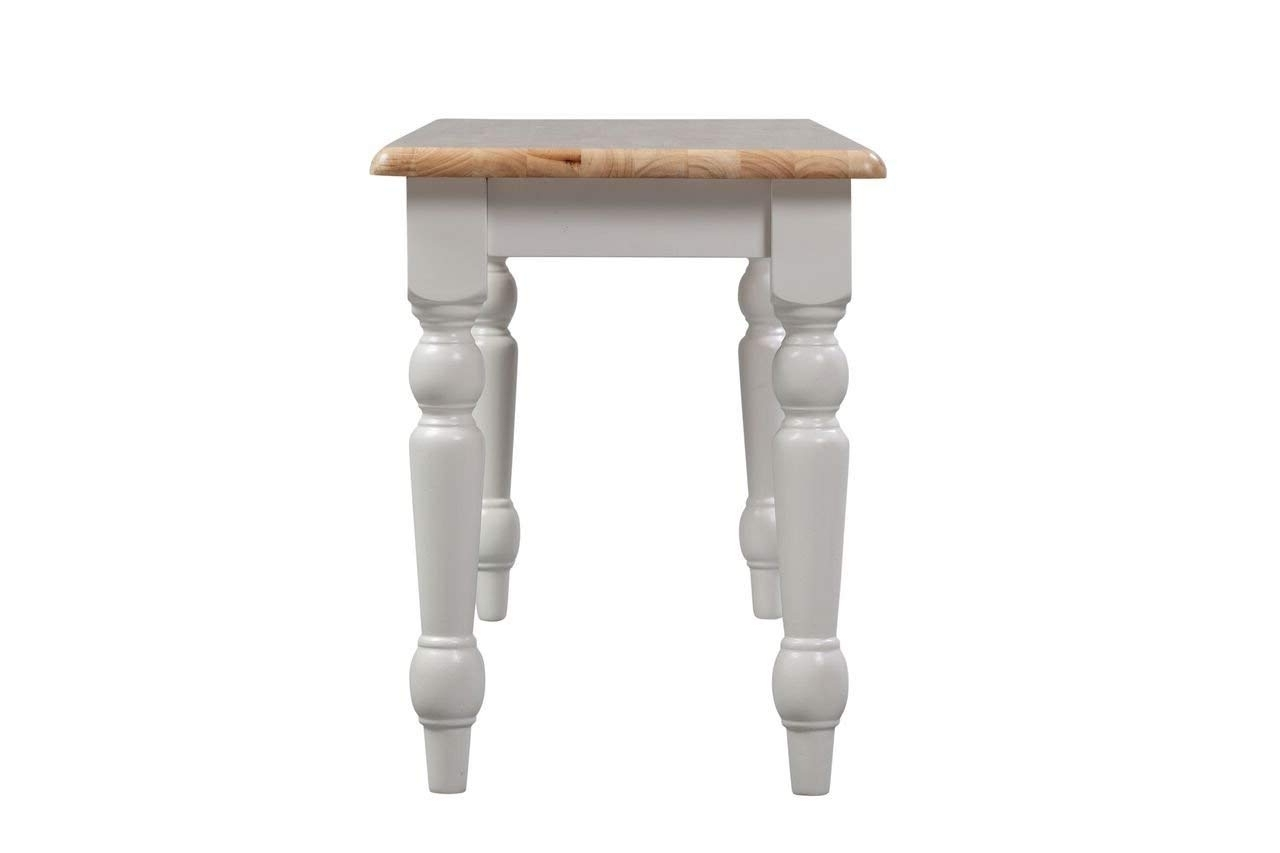 Magnolia Home English Country Oval Dining Tables For Trendy Amazon – Boraam 36369 Farmhouse Bench, White/natural – Table Benches (View 23 of 25)