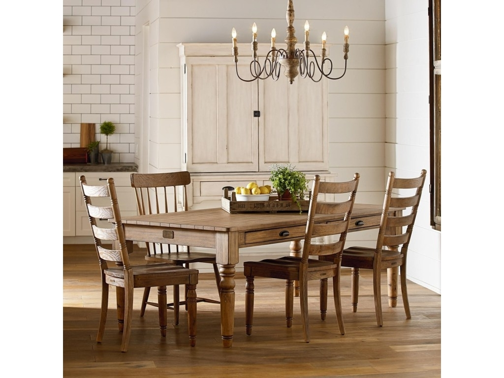 Magnolia Home Sawbuck Dining Tables Pertaining To Current Kitchen Tables Joanna Gaines (View 23 of 25)