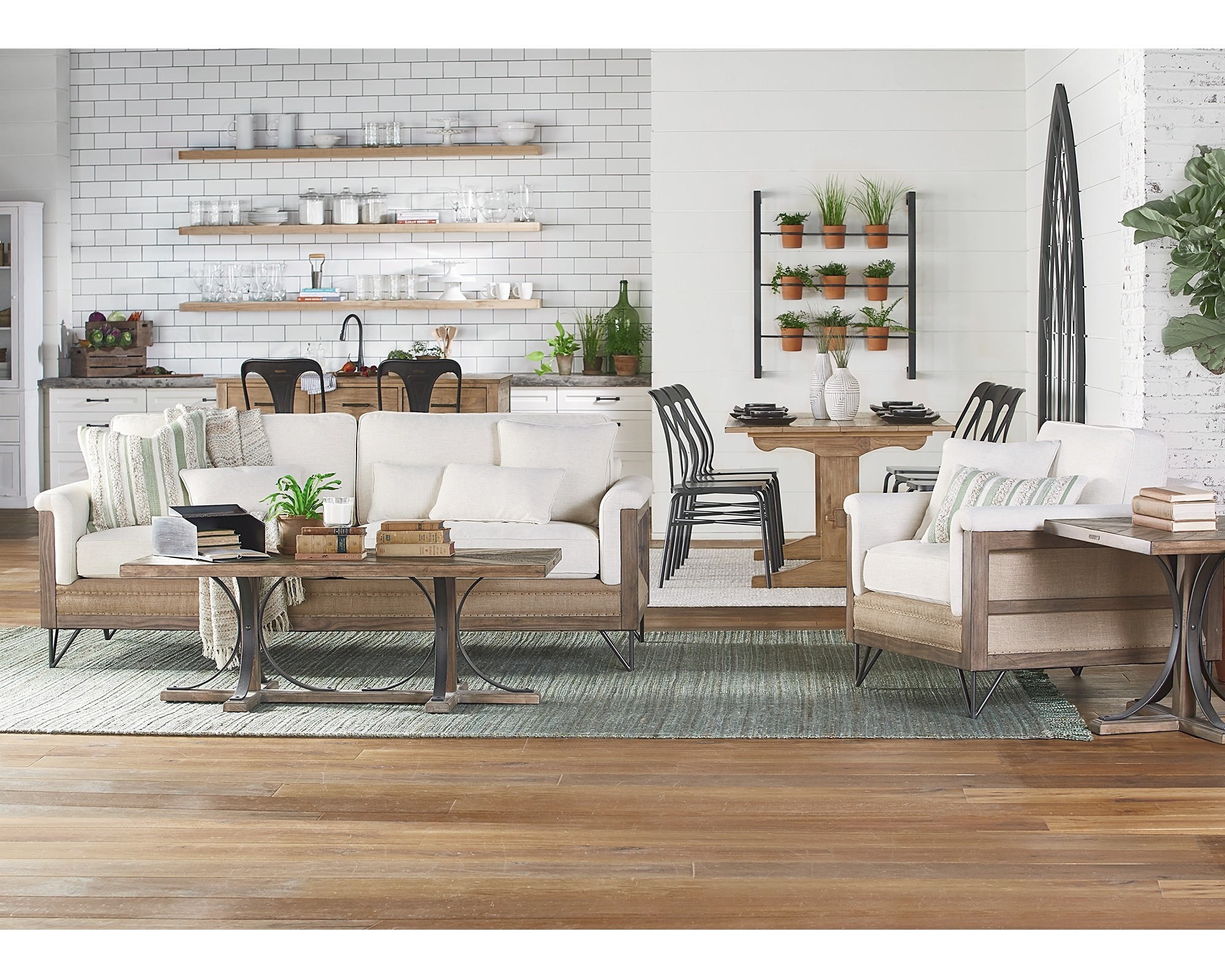 Magnolia Home Sawbuck Dining Tables Regarding Latest Iron Trestle End Table Magnolia Home Joanna Gaines (View 13 of 25)