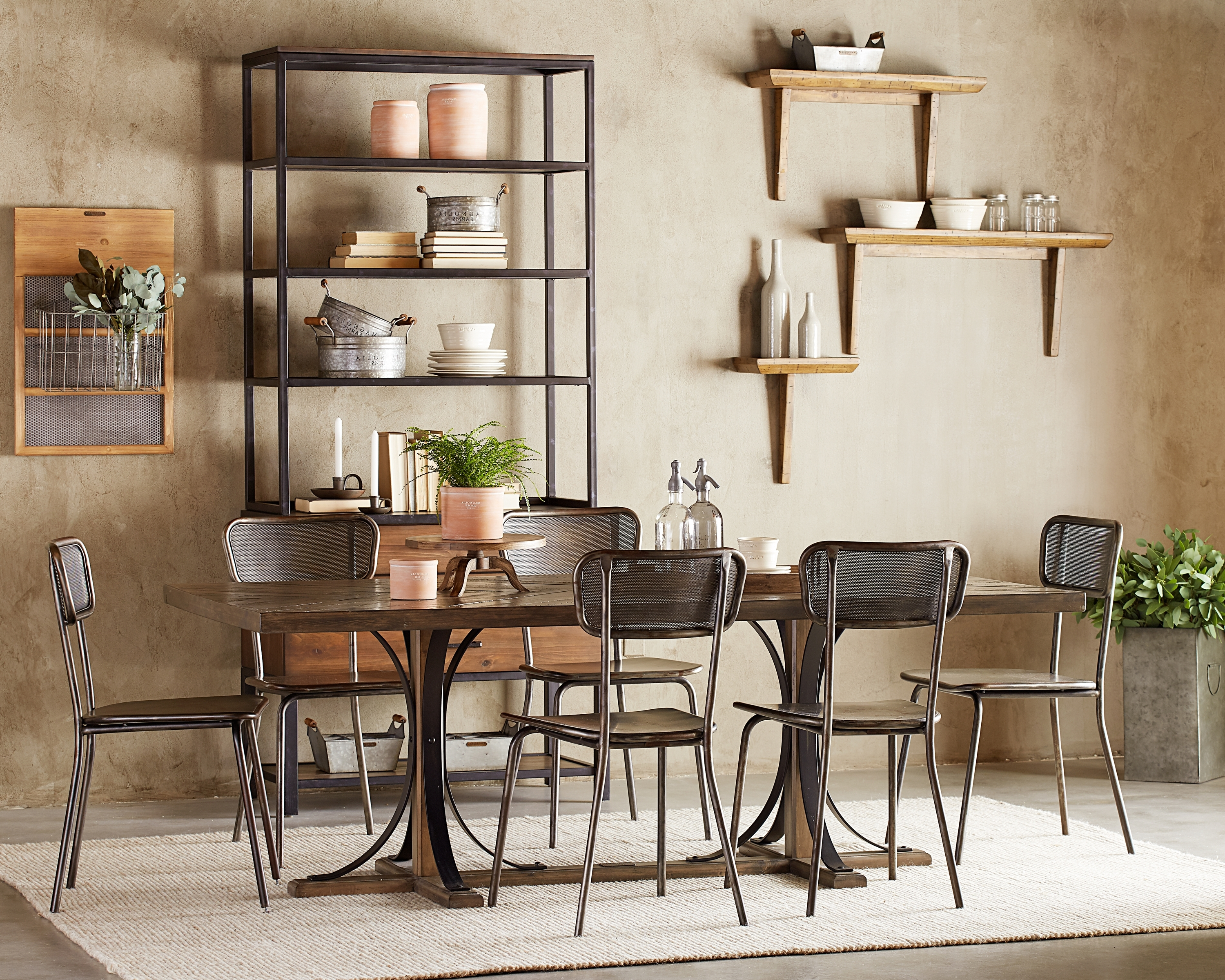 Magnolia Home Sawbuck Dining Tables Throughout Current Iron Trestle Dining Table – Magnolia Home (View 8 of 25)