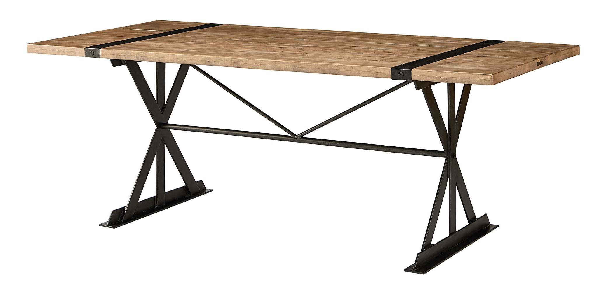 Magnolia Home Sawbuck Dining Tables With 2017 Magnolia Truss & Strap Dining Table – Urban Silo Market (View 15 of 25)