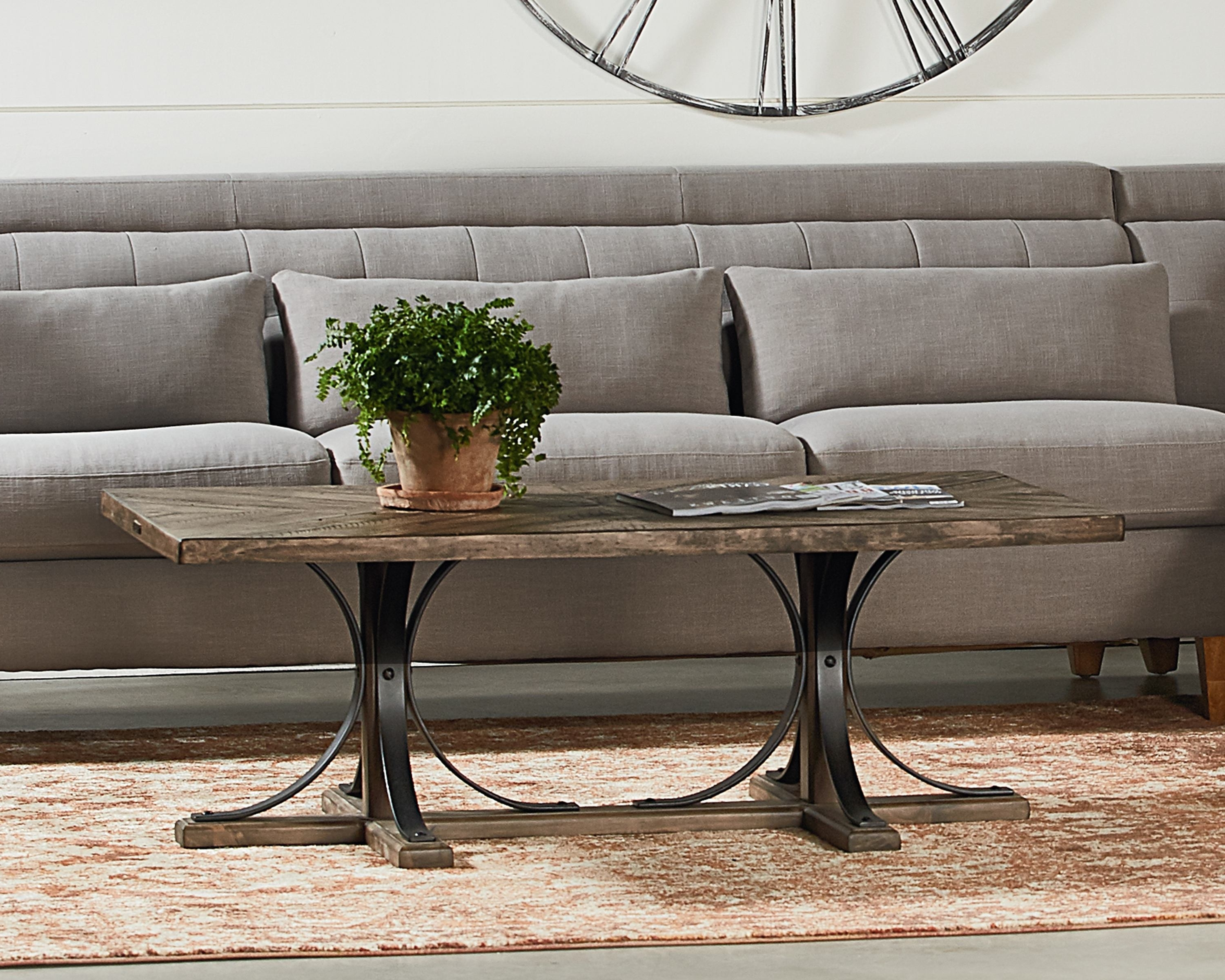 Magnolia Home Shop Floor Dining Tables With Iron Trestle In Popular Iron Trestle Coffee Table – Magnolia Home (View 7 of 25)