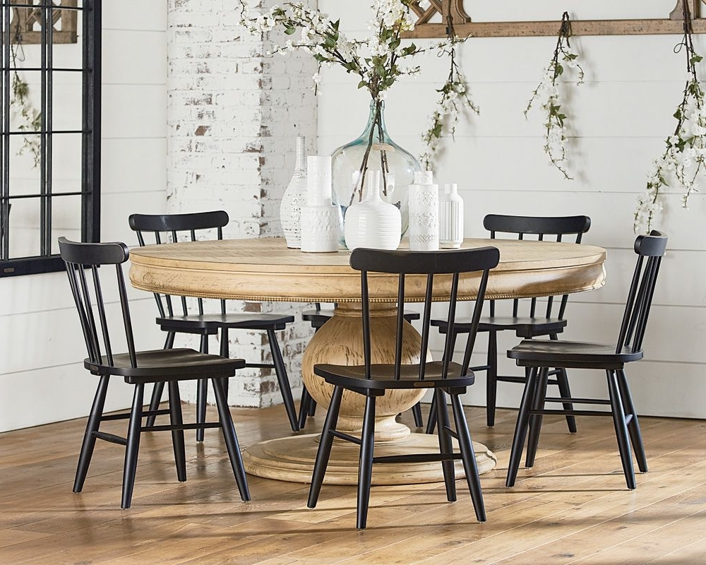 Magnolia Home Top Tier Round Dining Tables Pertaining To Fashionable Belgian Breakfast Table With Vermont Chairs – Magnolia Home (View 15 of 25)
