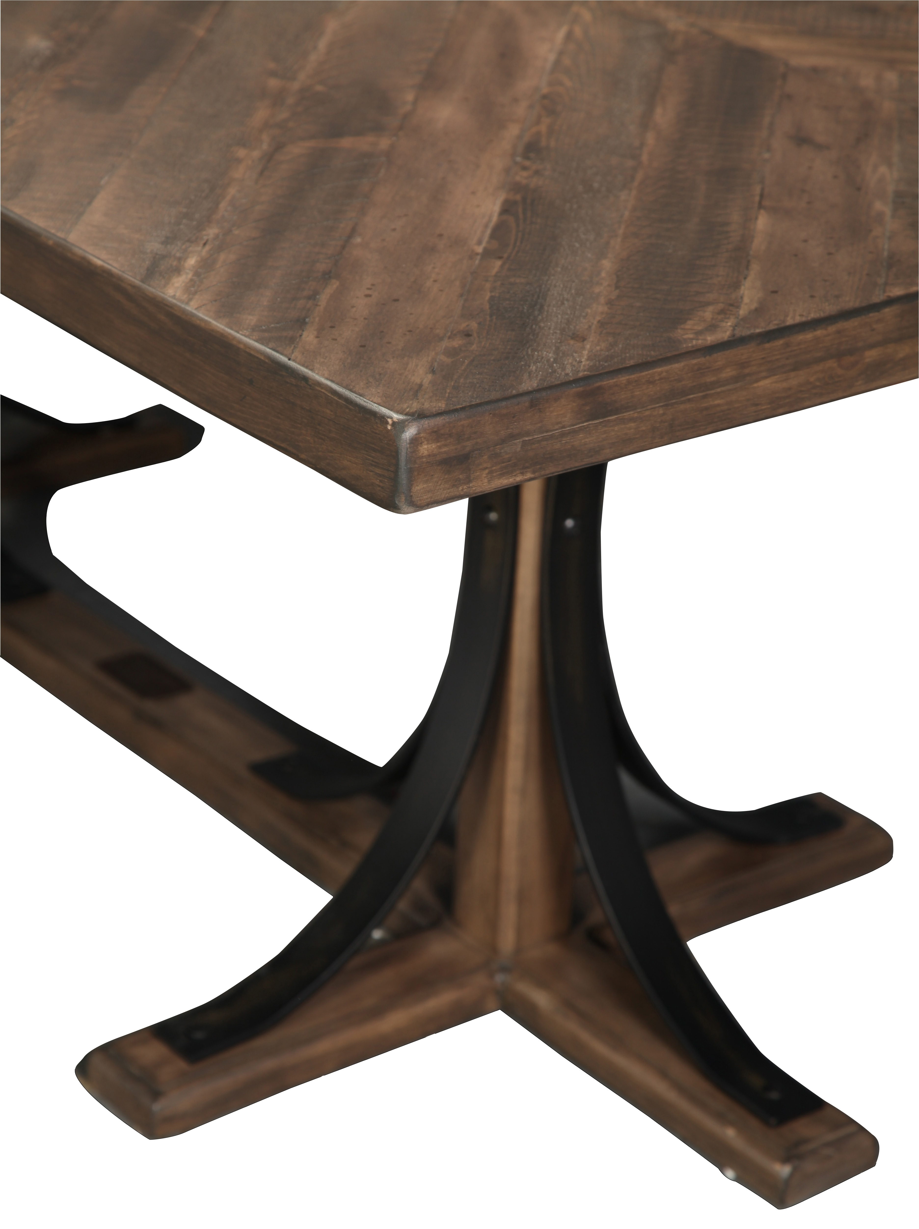 Magnolia Home Traditional Iron Trestle Table (View 18 of 25)
