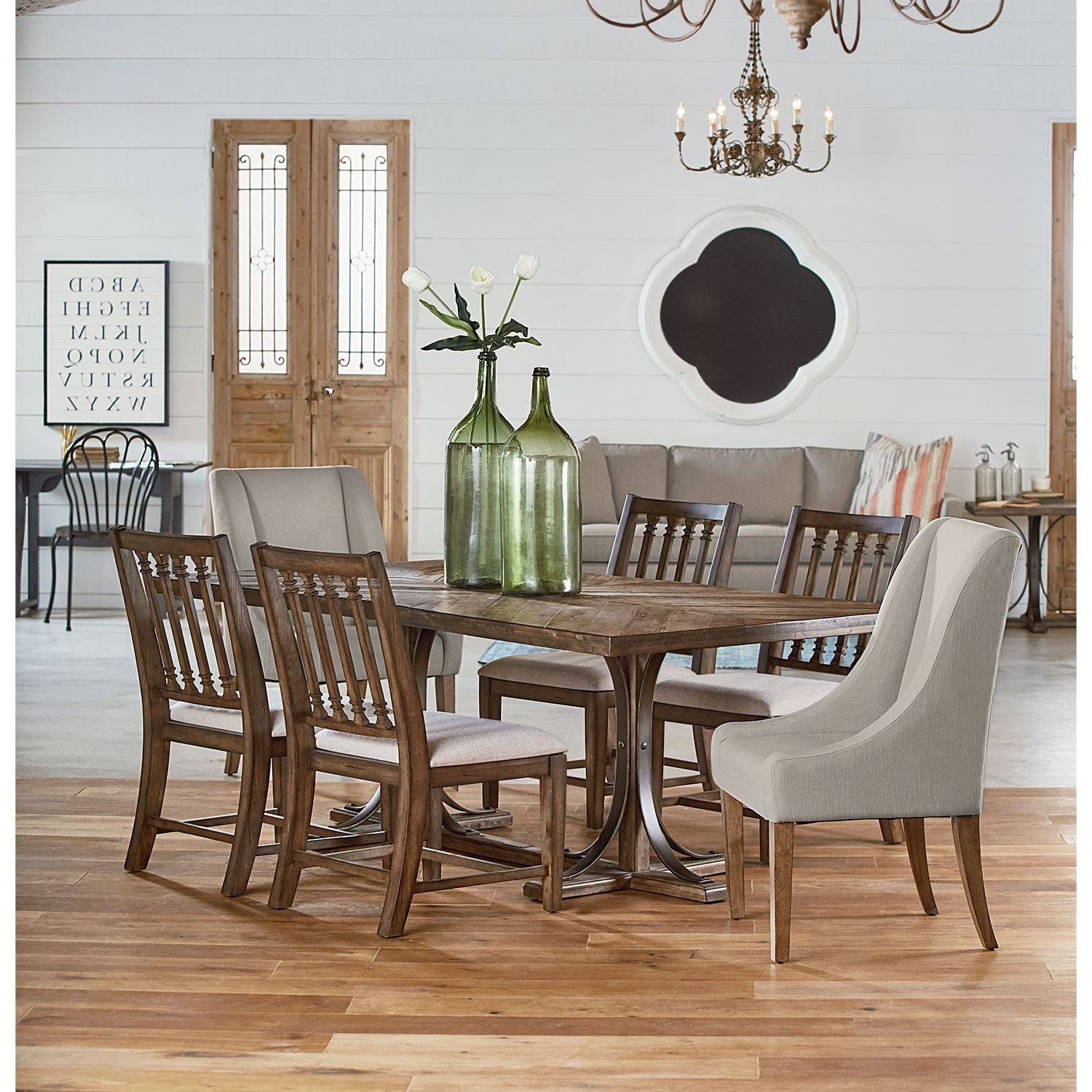 Magnolia Home Trestle Dining Table Awesome Small Solid Wood Dining Throughout Most Up To Date Magnolia Home Sawbuck Dining Tables (View 2 of 25)