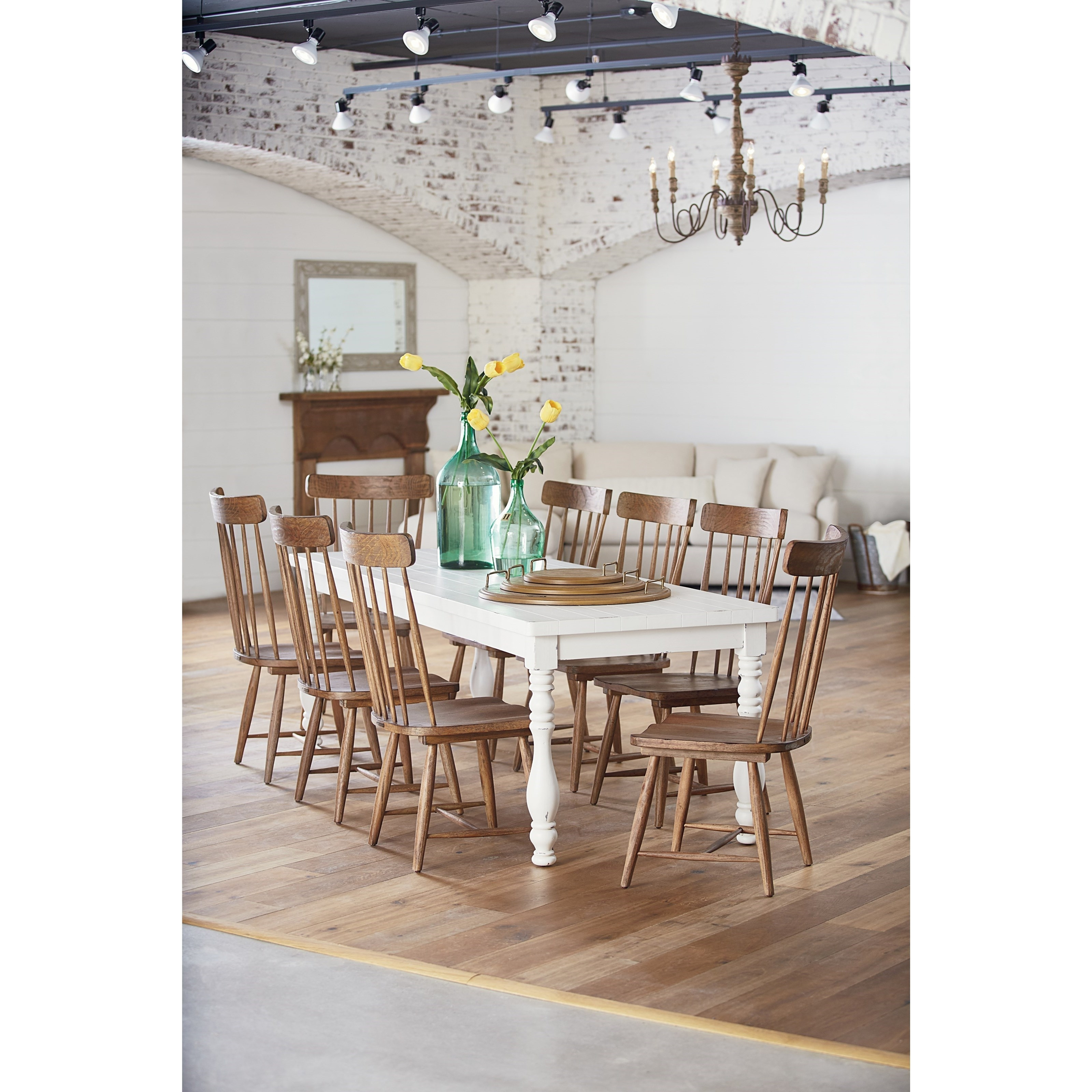 Magnolia Homejoanna Gaines Farmhouse 9 Piece Dining Set With Regarding Most Popular Magnolia Home Double Pedestal Dining Tables (View 16 of 25)