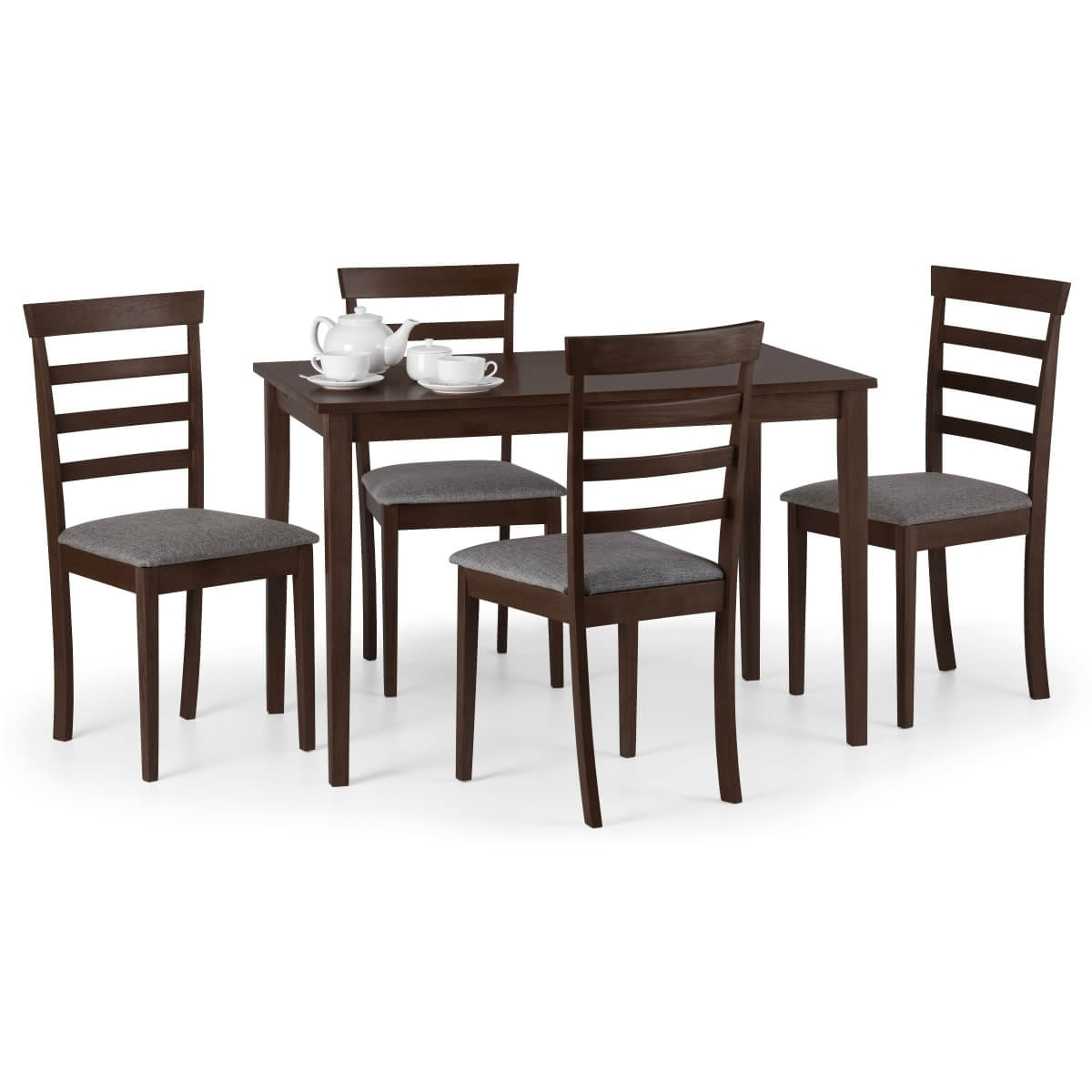 Mahogany Dining Tables And 4 Chairs Intended For Preferred Dining Set – Cleo Dining Table And 4 Dining Chairs In Mahogany Cle901 (Gallery 19 of 25)