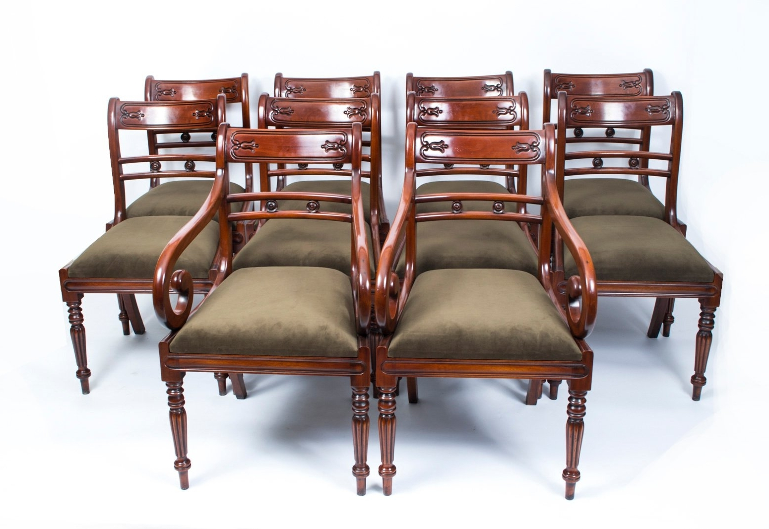 Mahogany Dining Tables Sets For Most Popular 19Th Century Victorian Flame Mahogany Dining Table And 14 Chairs For (View 13 of 25)