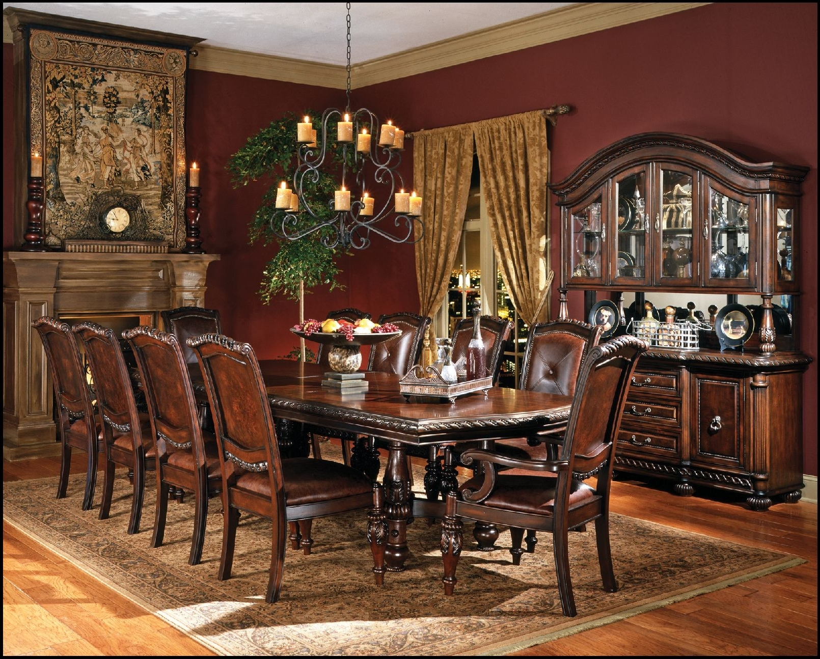 Mahogany Dining Tables Sets Throughout 2018 Best Extra Large 88 Round Mahogany Dining Table With Perimeter (View 19 of 25)
