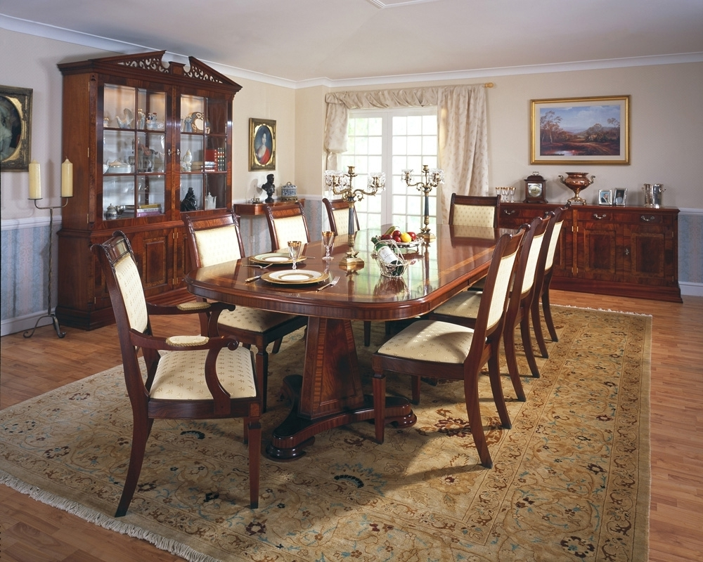 Mahogany Extending Dining Tables And Chairs Intended For Most Current 2 Leaf Mahogany Extending Dining Table Seats 10 (Gallery 13 of 25)