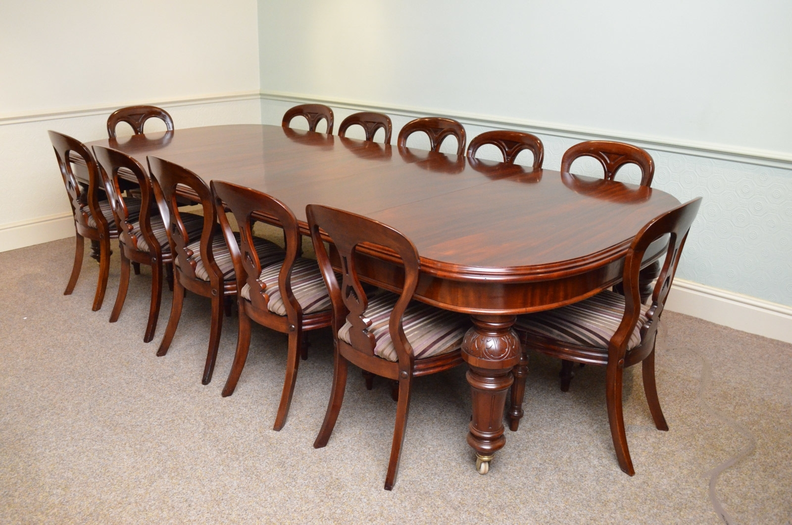 Mahogany Extending Dining Tables And Chairs With Regard To Fashionable Fine Quality Victorian Mahogany Extending Dining Table (View 11 of 25)