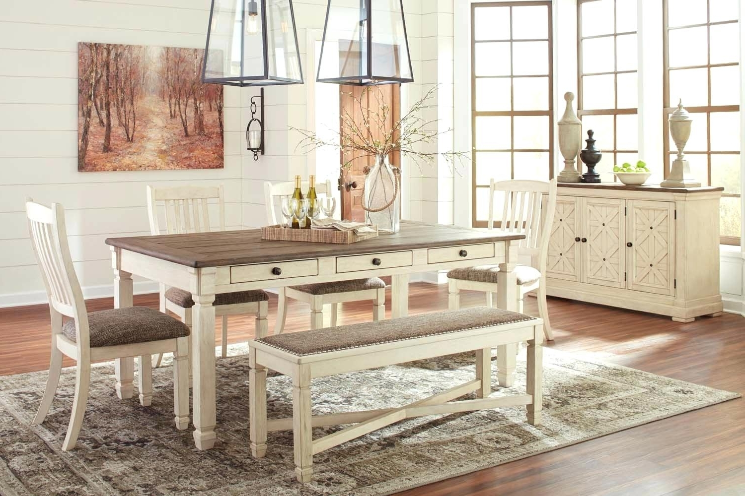 Mallard 6 Piece Extension Dining Sets Regarding Well Liked 6 Piece Dining Room Set Sets Bravo Counter Height Corner Seating (View 17 of 25)