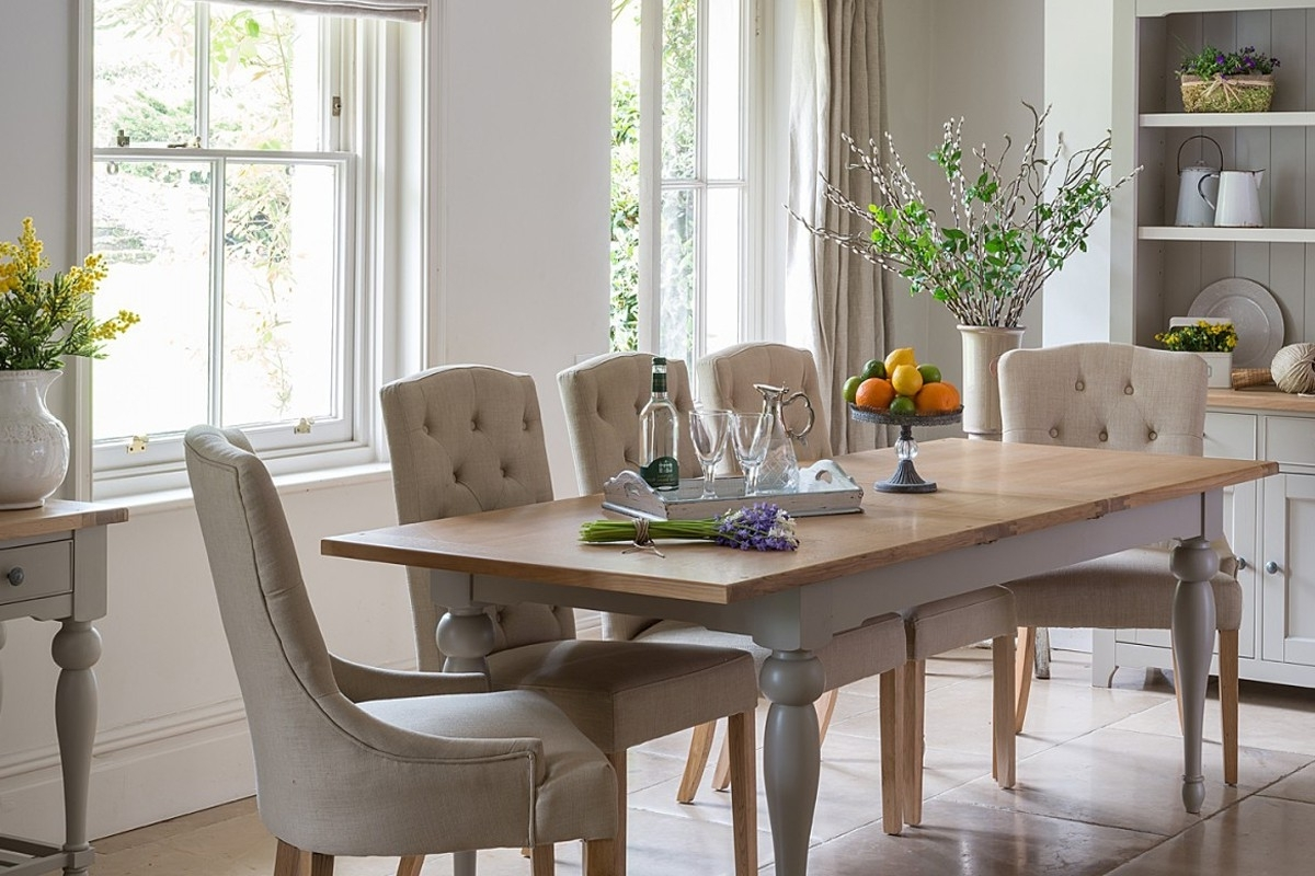 Malvern Extending French Dining Table Crown French Furniture With Within Current Extending Dining Tables And Chairs (View 11 of 25)