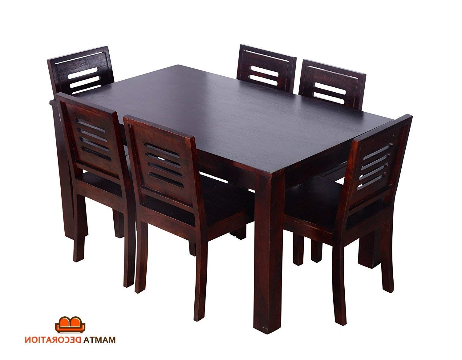 Mamta Decoration Sheesham Wood Wooden Dining Table With 6 Chairs Regarding Widely Used Sheesham Wood Dining Chairs (View 20 of 25)